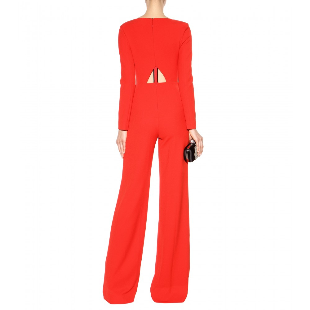 b2f300513eba Roland mouret Herring Crepe Jumpsuit in Red