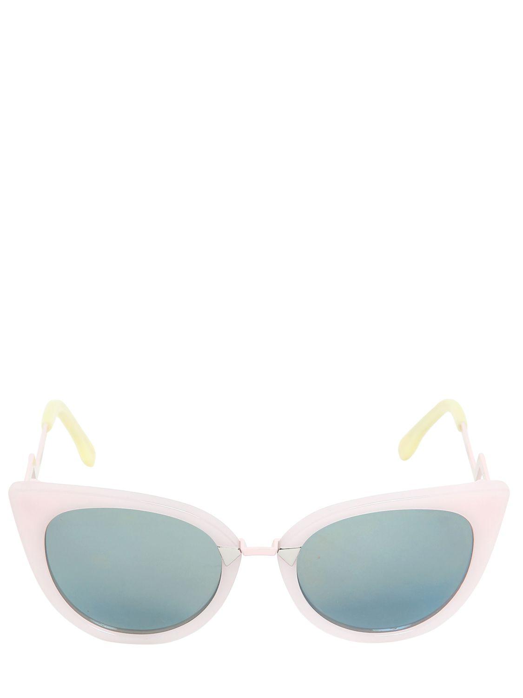 66b8e335ed50 Fendi Cat Eye Mirror Lens Sunglasses in Pink