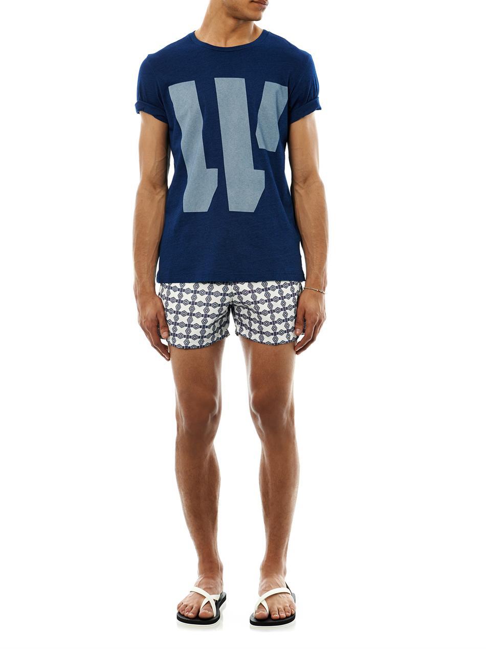 lyst make your odyssey parasol jacquard swim shorts in. Black Bedroom Furniture Sets. Home Design Ideas
