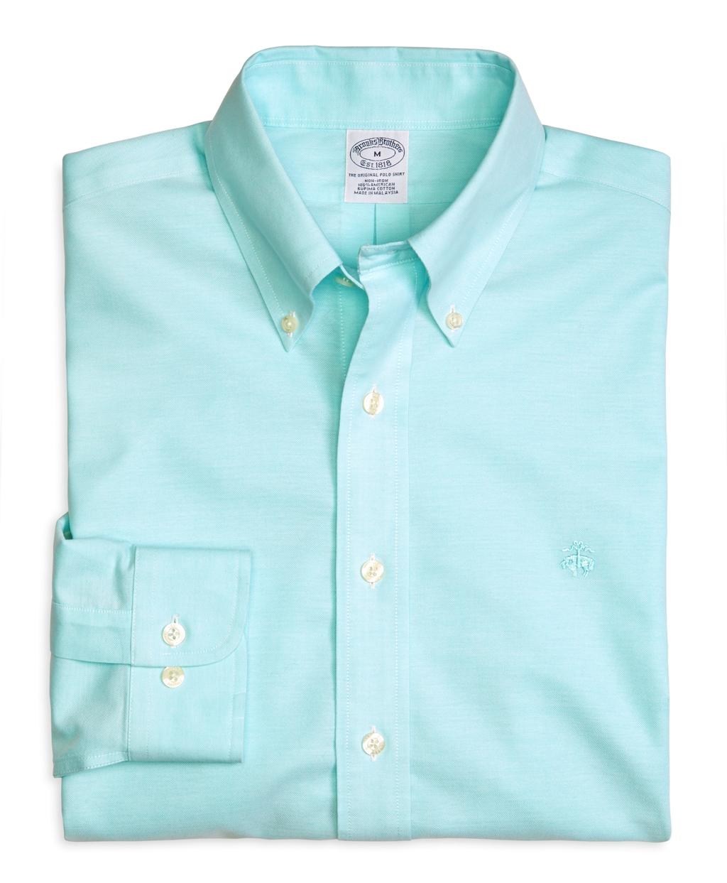 Lyst brooks brothers supima cotton slim fit noniron for Supima cotton dress shirts