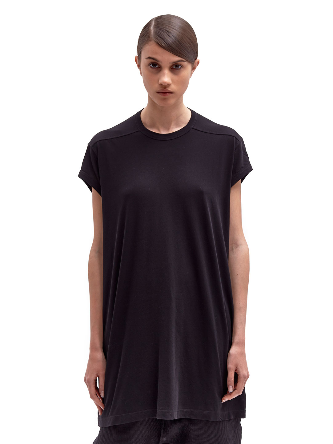 Black t shirt for ladies - Rick Owens Womens Oversized Capped Sleeve Tshirt In Black Lyst Rick Owens Womens Oversized Capped Sleeve Tshirt In Black Lyst