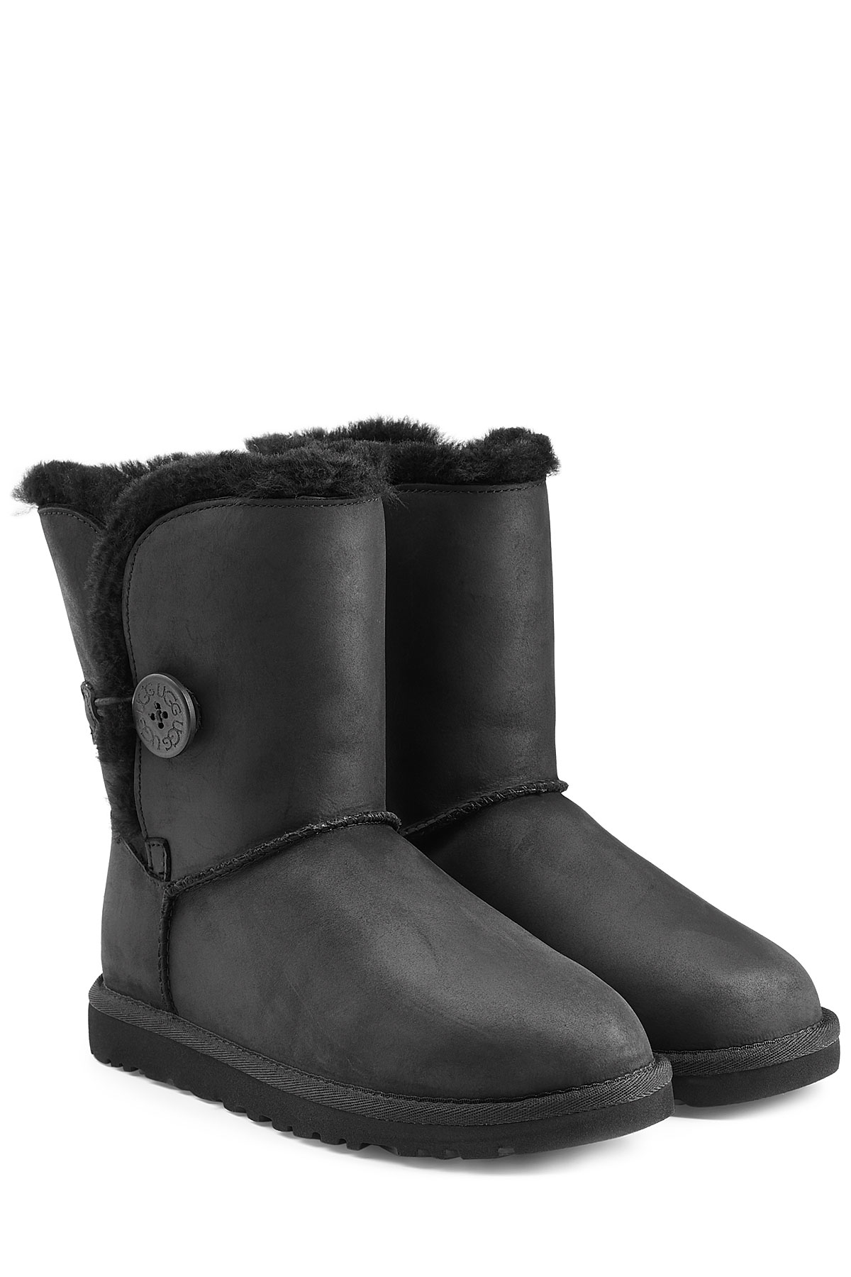 Lyst Ugg Bailey Button Leather Boots In Black