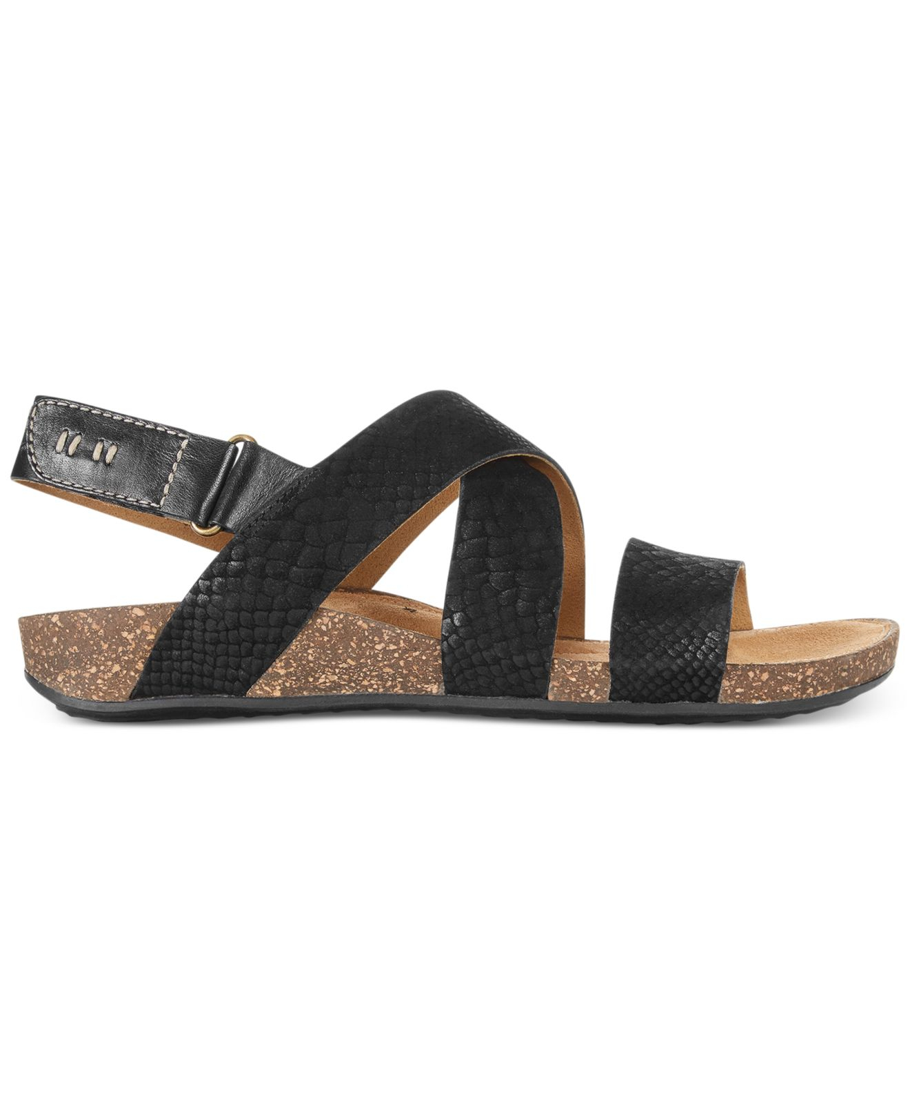 8e5c62a94 Lyst - Clarks Artisan Women s Perri Dunes Footbed Sandals in Black