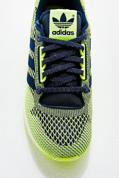 Adidas Green Trainers Trainers in Lime Green in
