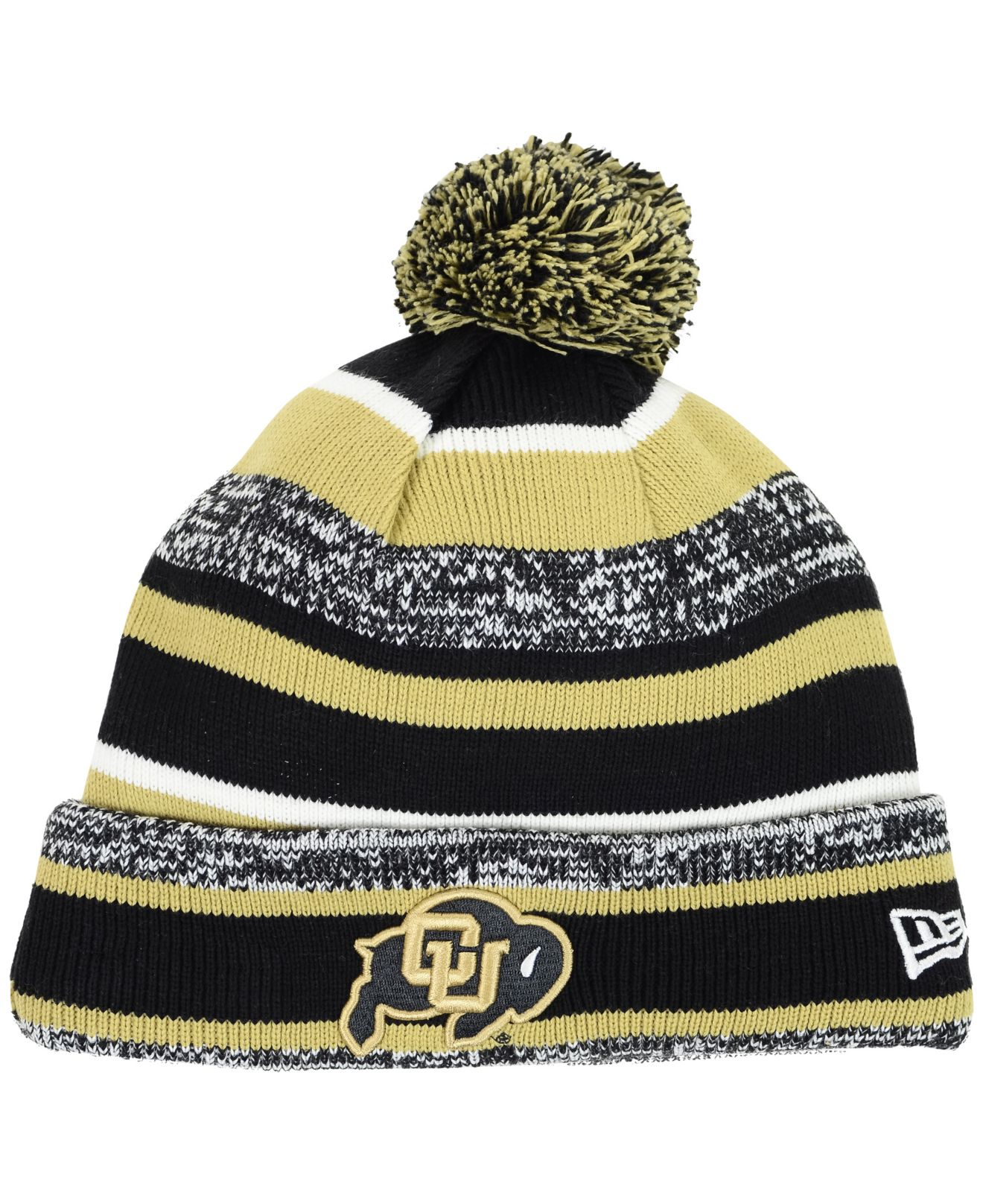 591ef11c6e7 ... italy lyst ktz colorado buffaloes sport knit hat in yellow for men  c765e 0203d