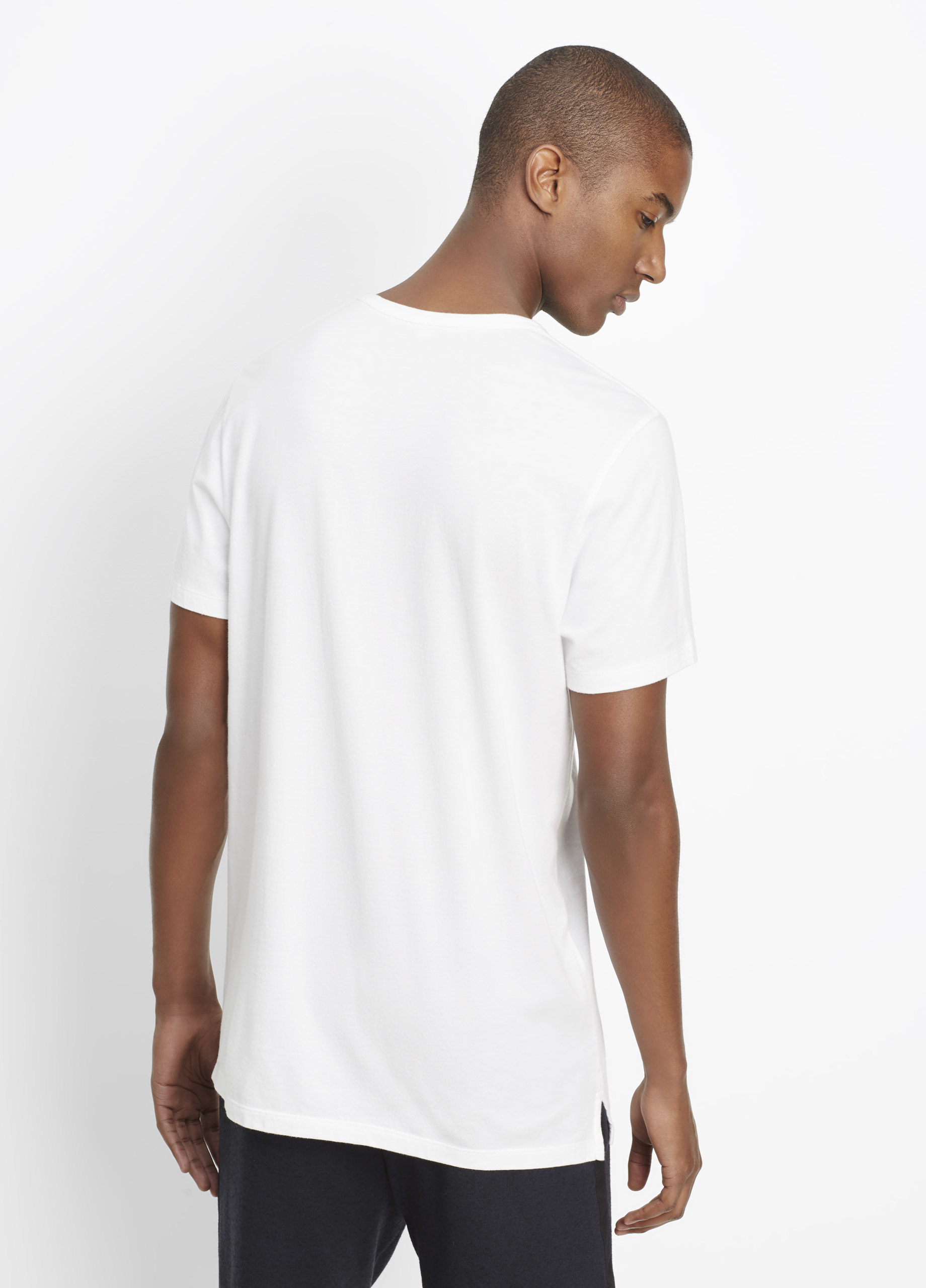 Vince pima cotton long and lean short sleeve crew neck tee for Vince tee shirts sale