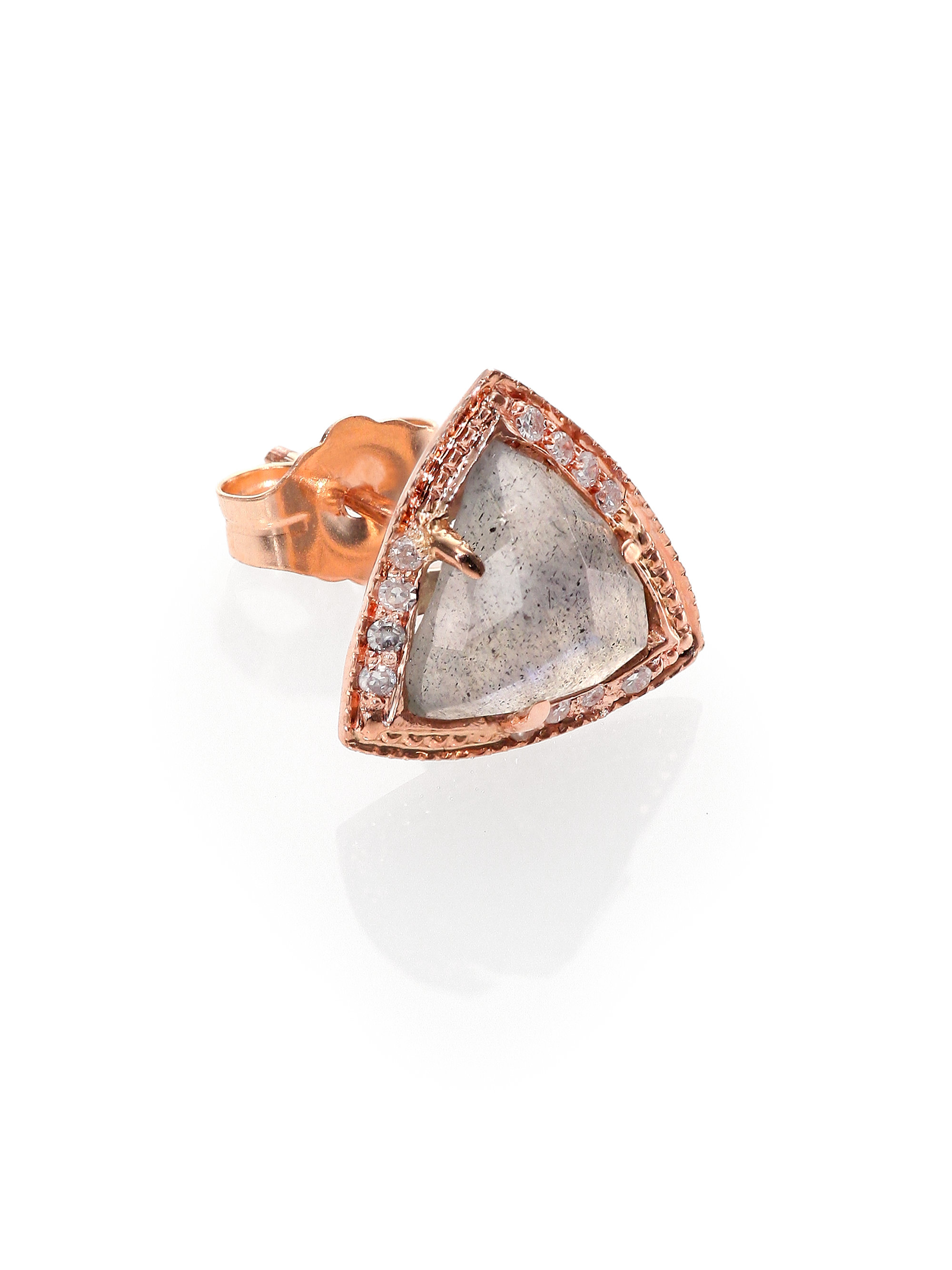 Diamond, labradorite & yellow-gold earrings Jacquie Aiche