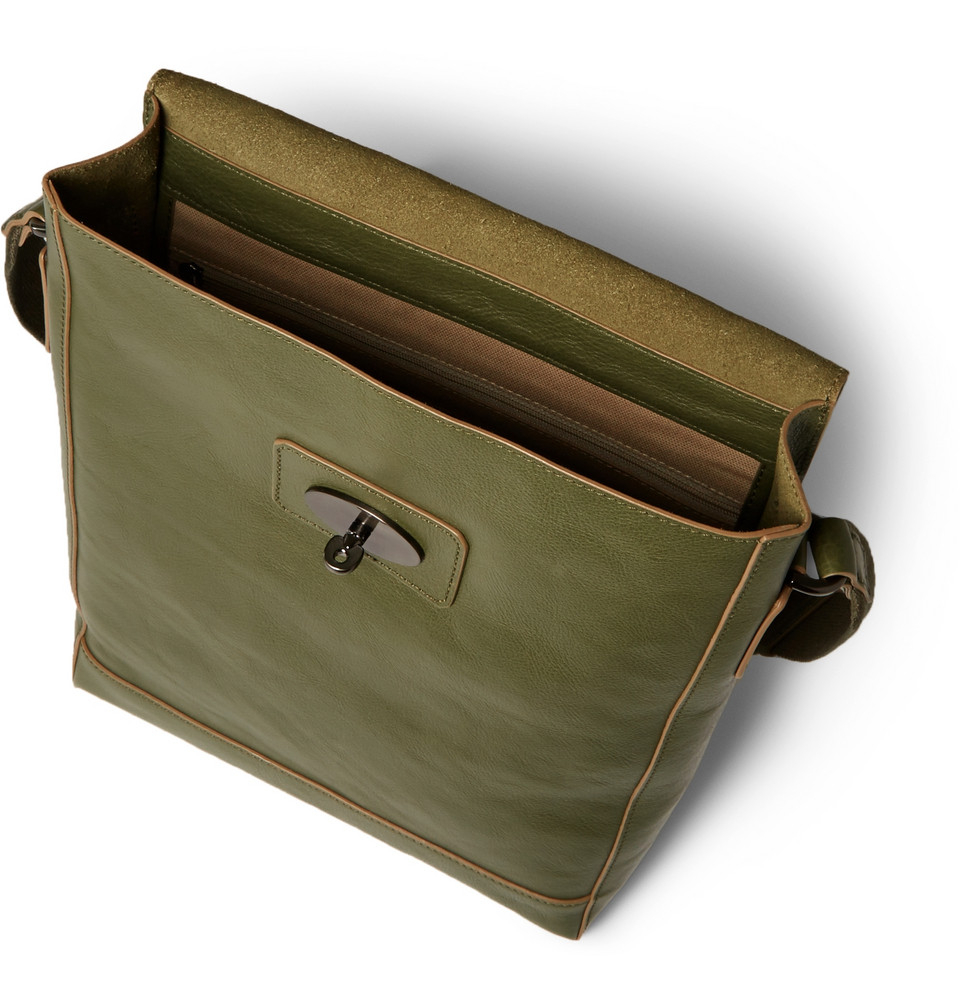 Mulberry Brynmore Leather Messenger Bag in Green for Men | Lyst