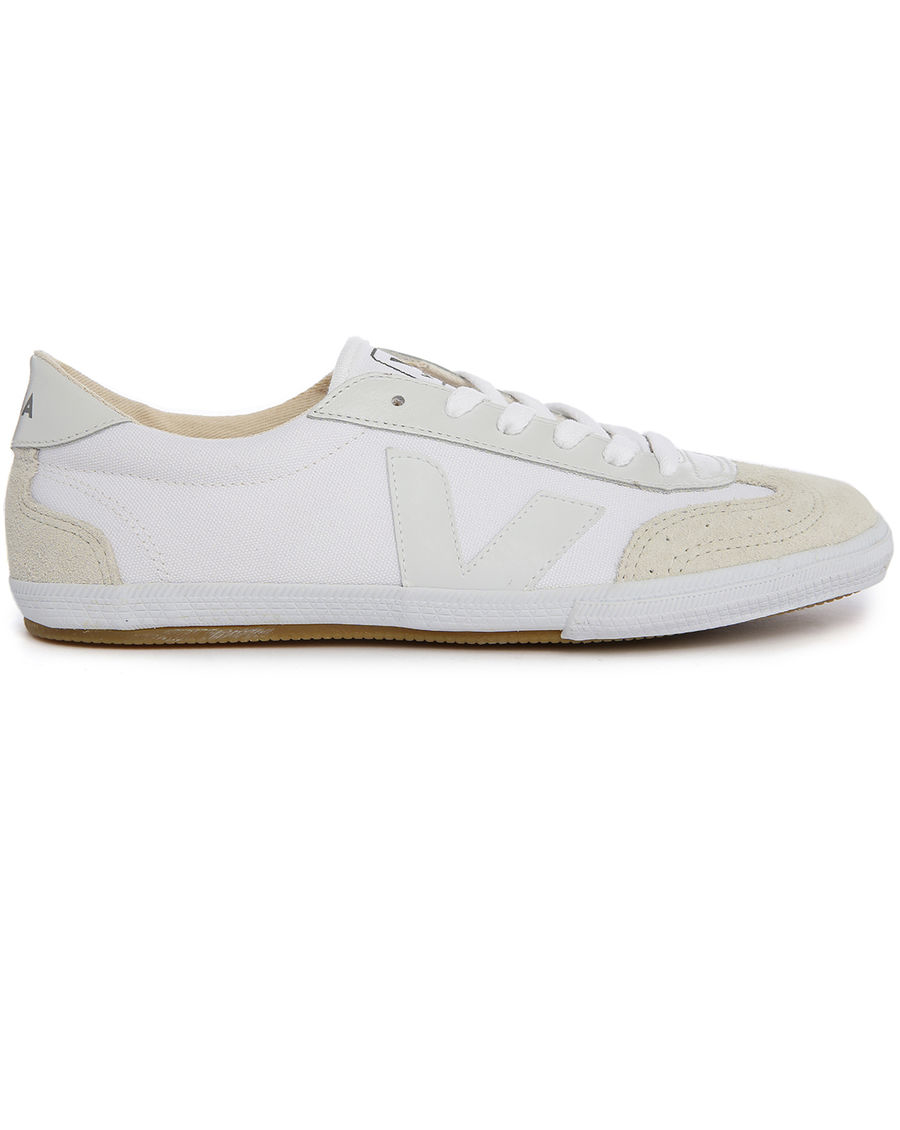 veja volley white canvas sneakers in white for lyst