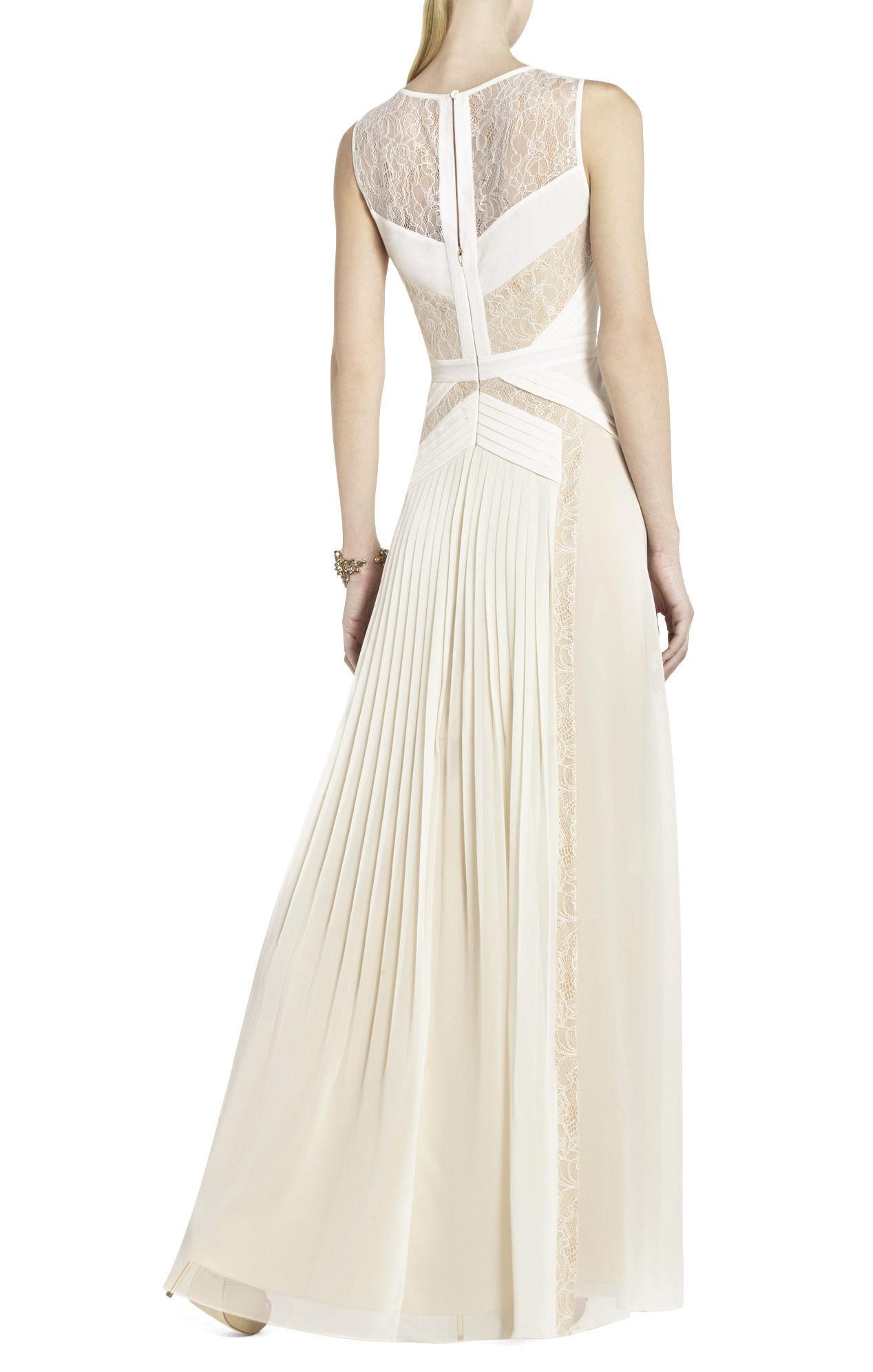 Lyst - Bcbgmaxazria Avi Pleated Gown in White