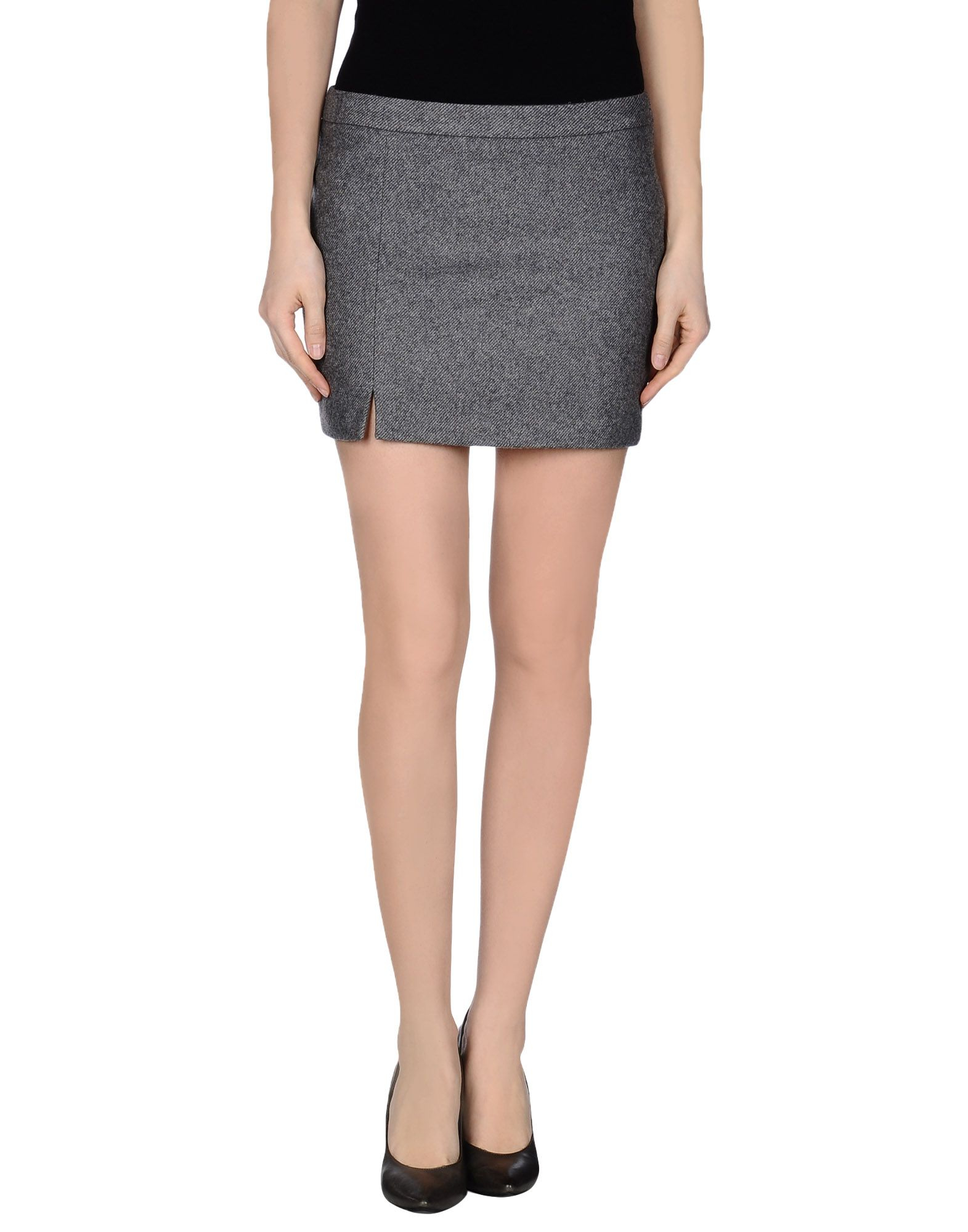 m grifoni denim mini skirt in gray grey lyst