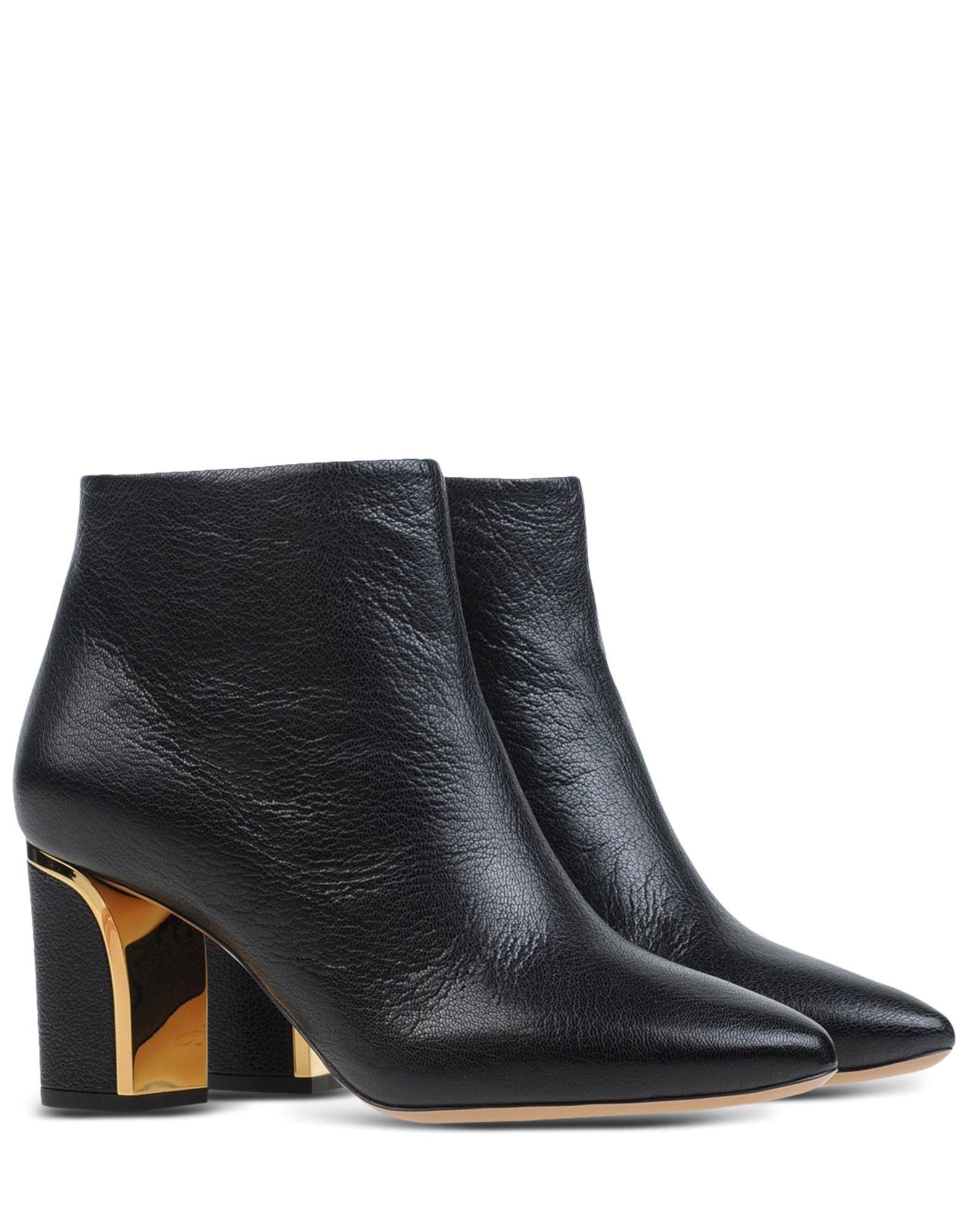 chlo goatskin ankle boots in black lyst. Black Bedroom Furniture Sets. Home Design Ideas