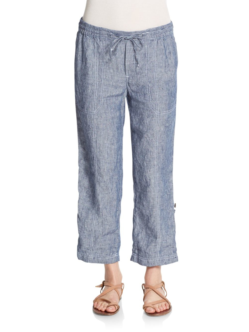 Chambray linen pants pant so for Chambray jeans