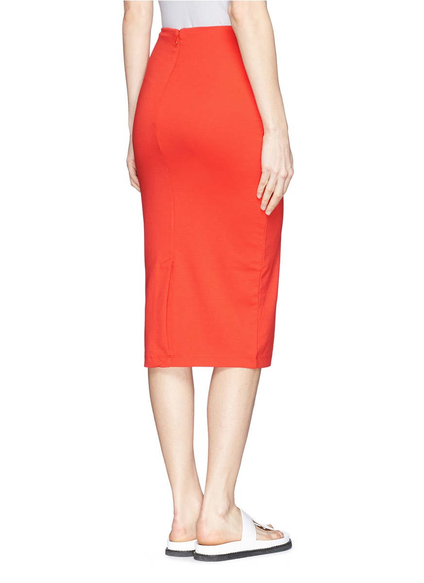 t by wang ponte knit pencil skirt in lyst
