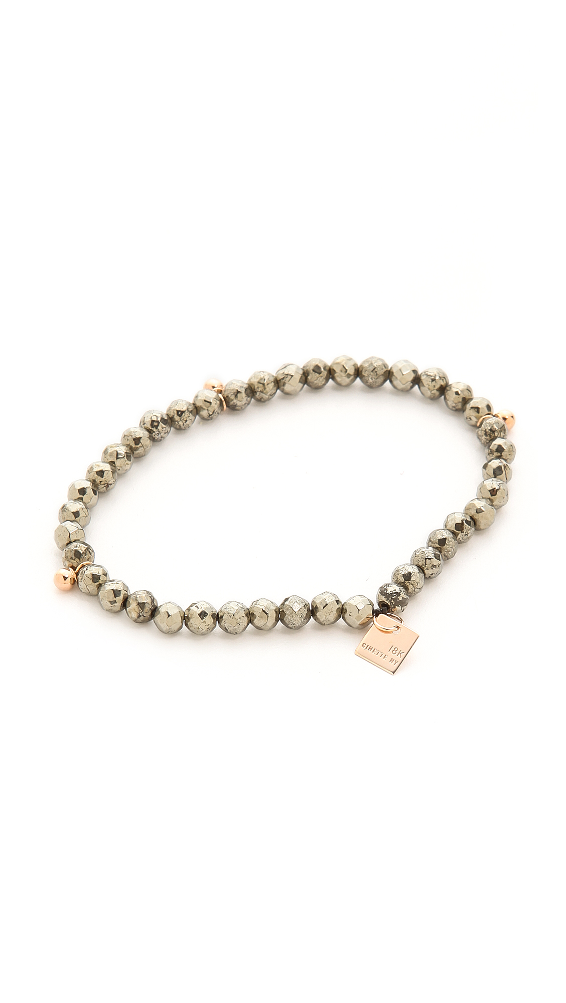 ginette ny fool s gold faceted bracelet in pink lyst