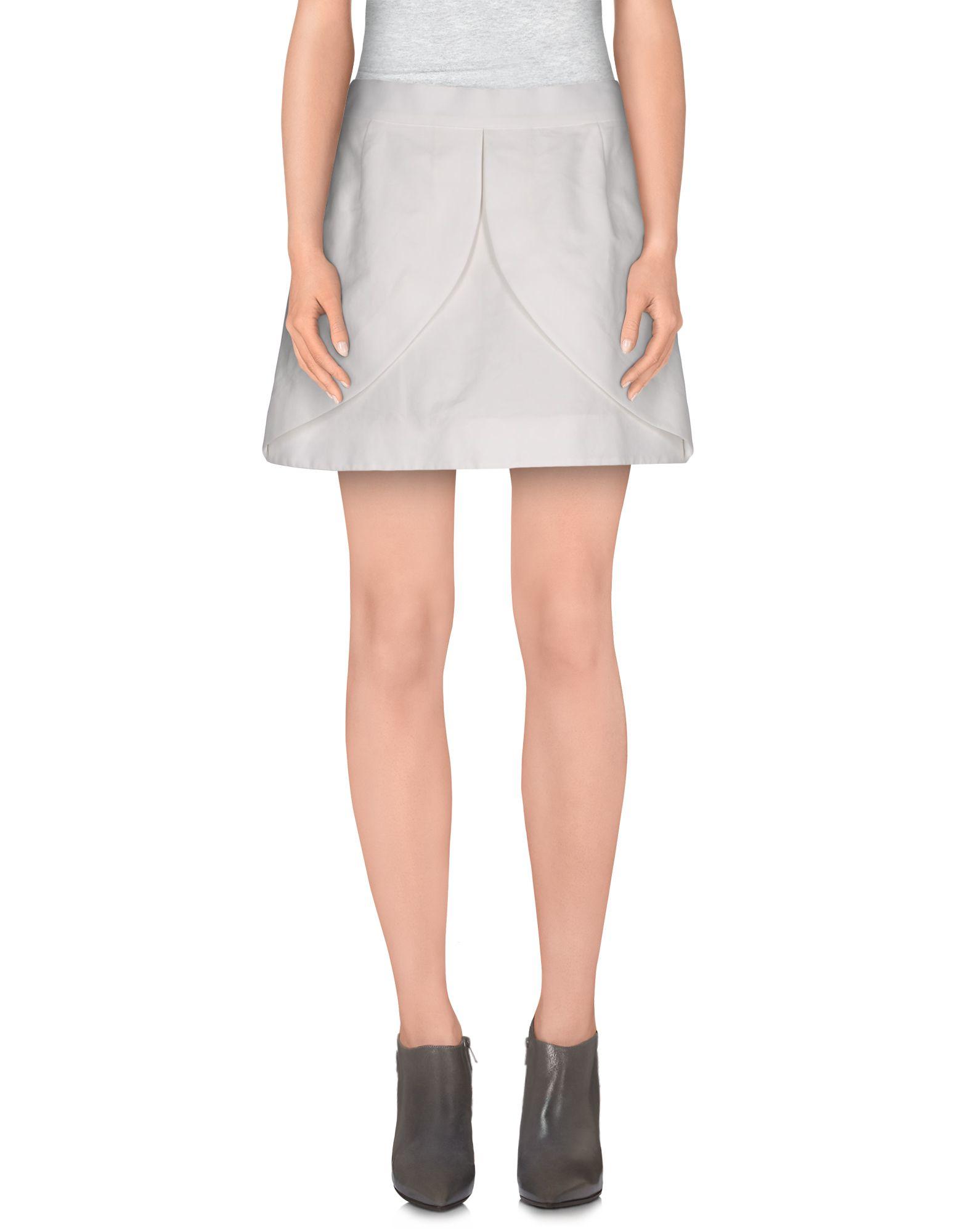 balenciaga mini skirt in white save 81 lyst