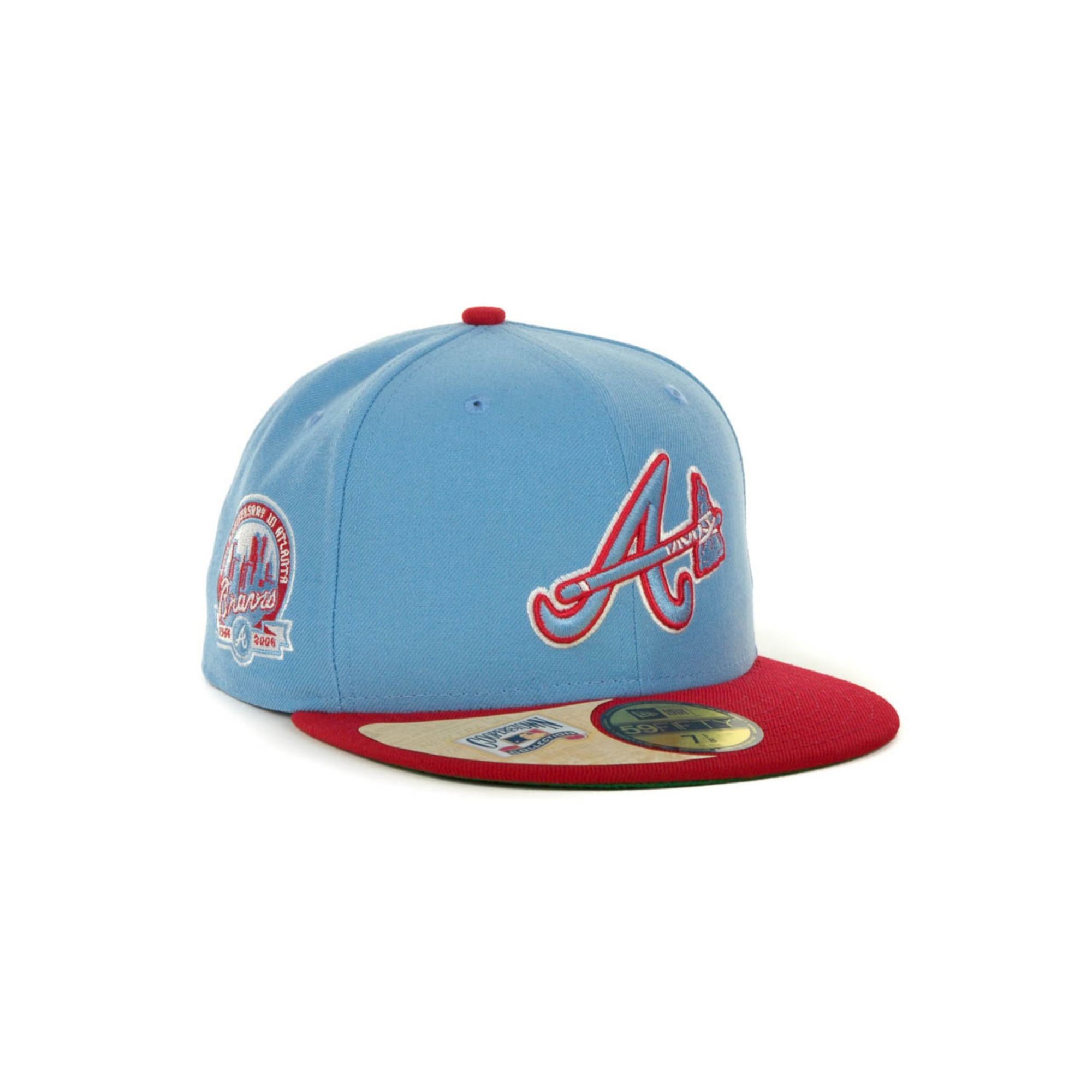 d0ce11c96ce ... top quality lyst ktz atlanta braves cooperstown patch 59fifty cap in  blue for men 9fe07 5a8cb