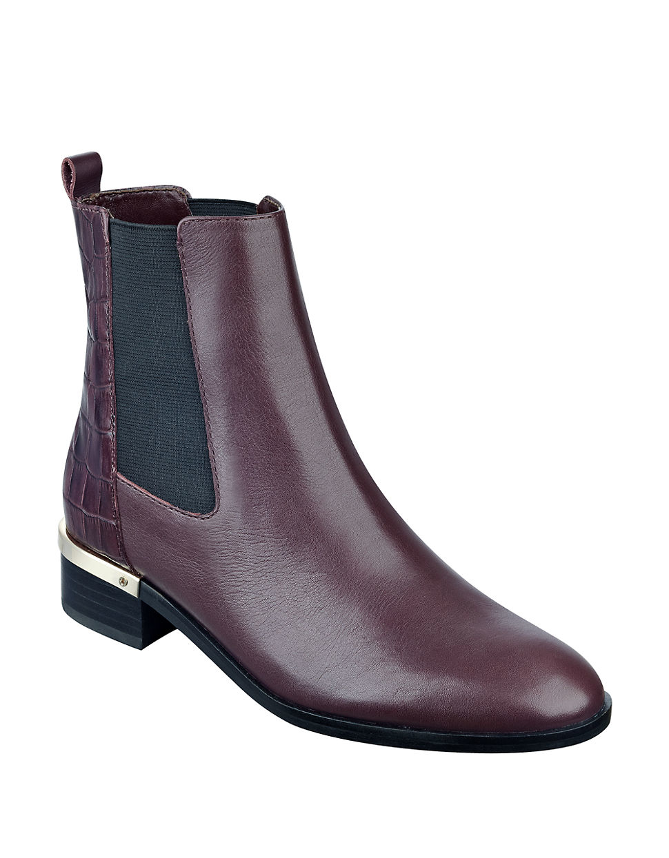 Ivanka trump Eday Leather Chelsea Boots in Purple