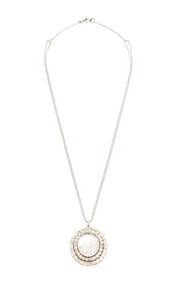 18K White Gold Diamond Necklace Renee Lewis Yk0CH