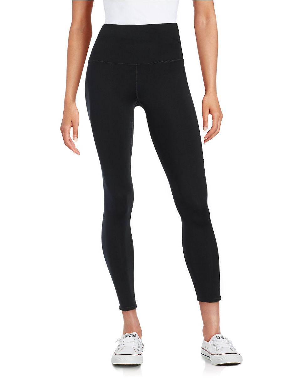 calvin klein high waisted active leggings in black lyst. Black Bedroom Furniture Sets. Home Design Ideas