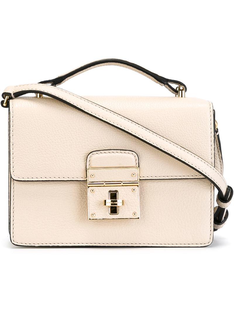 26f14bce4f96d Lyst - Dolce   Gabbana  Rosalia  Crossbody Bag in Natural