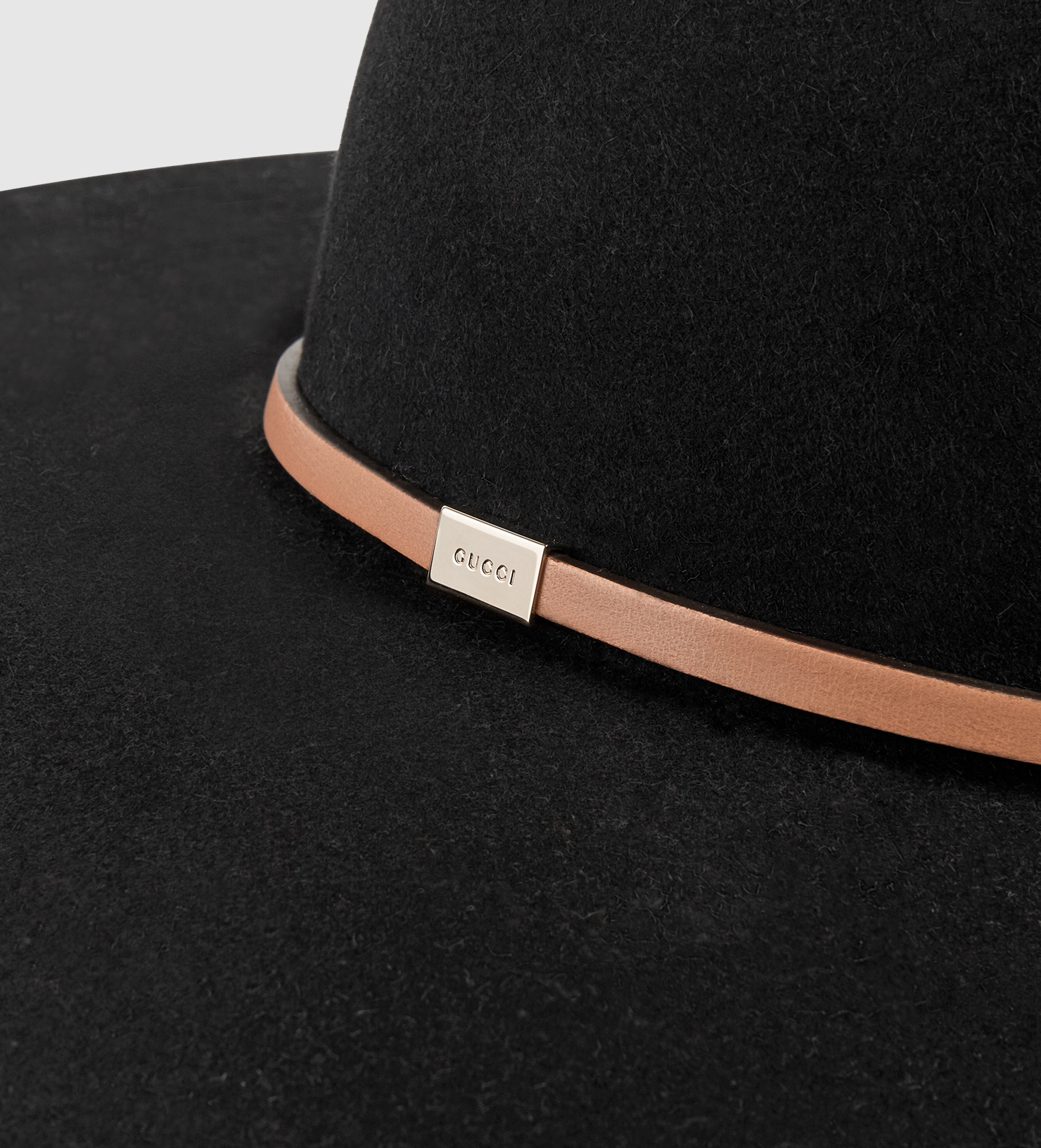 f0800c7bb37 Gucci Felt Wide-brim Hat in Black - Lyst