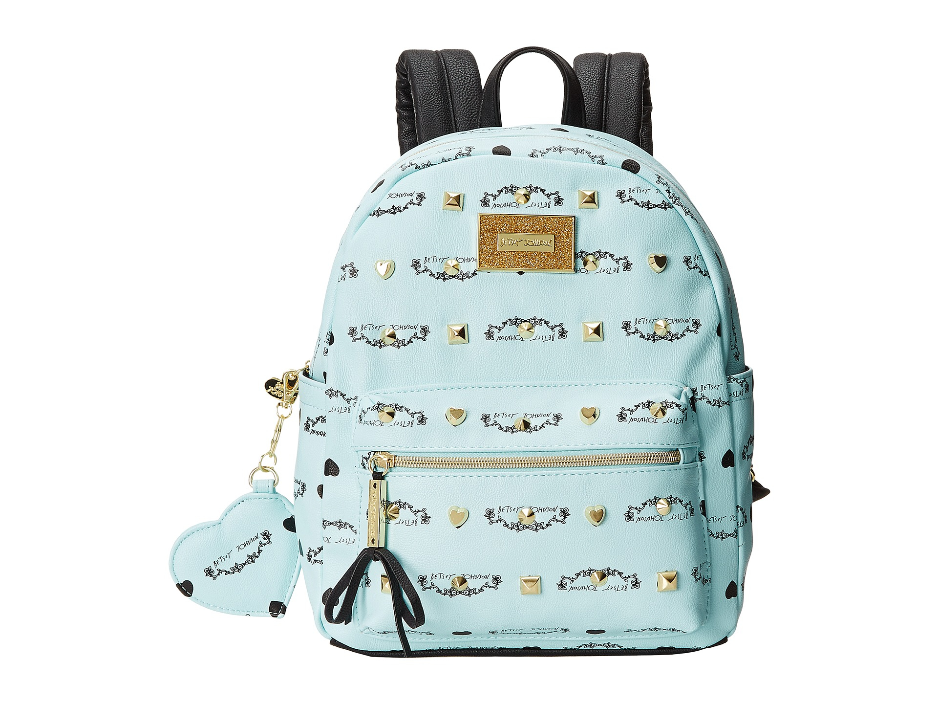 Betsey Johnson Studded Signature Mini Backpack In Blue Lyst