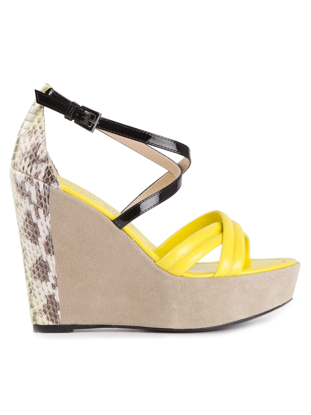 Barbara Bui Wedge Sandal In Yellow Yellow Amp Orange Lyst