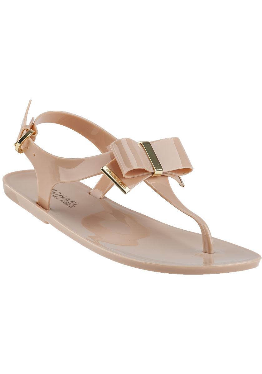 f3178d31b Lyst - MICHAEL Michael Kors Kayden Thong Sandal Nude Jelly in Natural