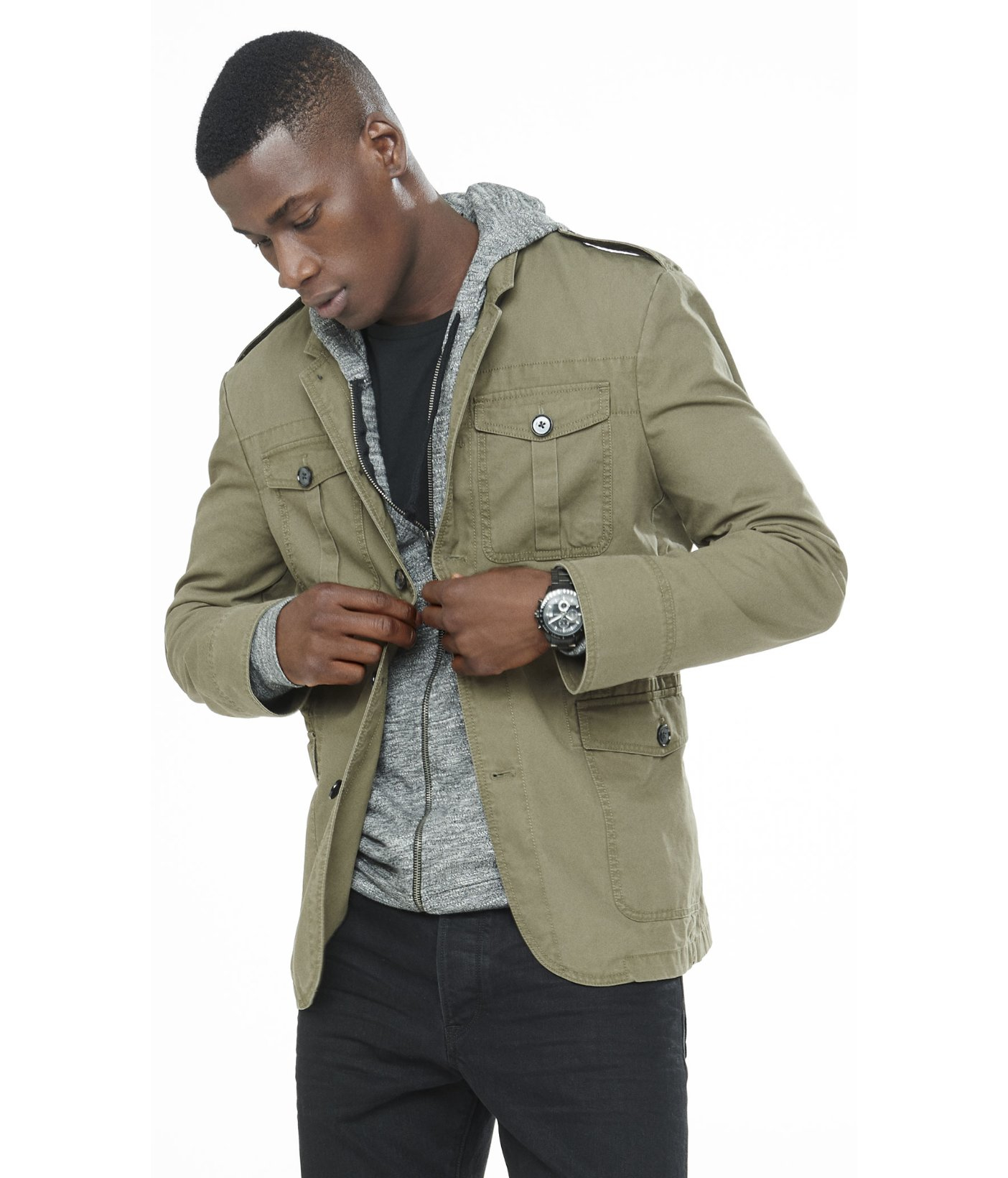 lyst  express slim photographer cotton olive military