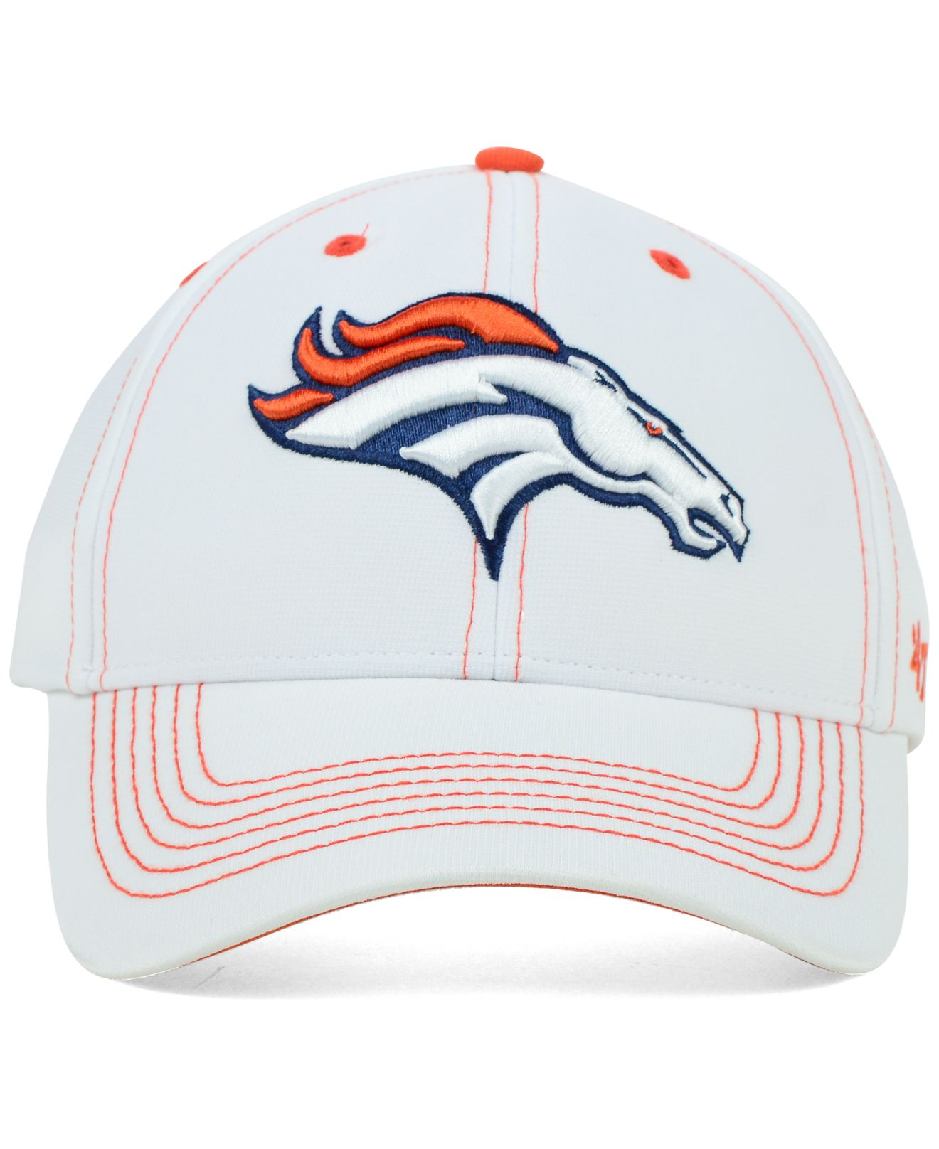 ... authentic lyst 47 brand denver broncos white twig mvp cap in white for  men 3e937 3039c bd31a95b1