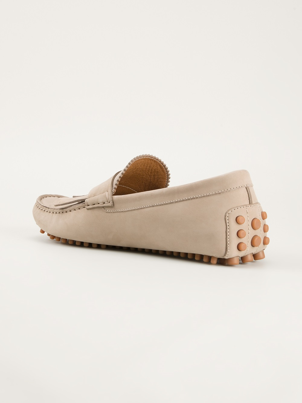 ca219138d14 Lyst - Gucci Fringed Loafers in Natural for Men