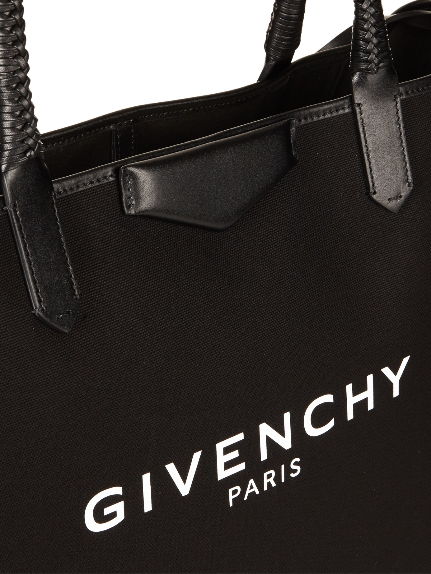 15c1b7ca06 Lyst - Givenchy Antigona Large Canvas Tote in Black