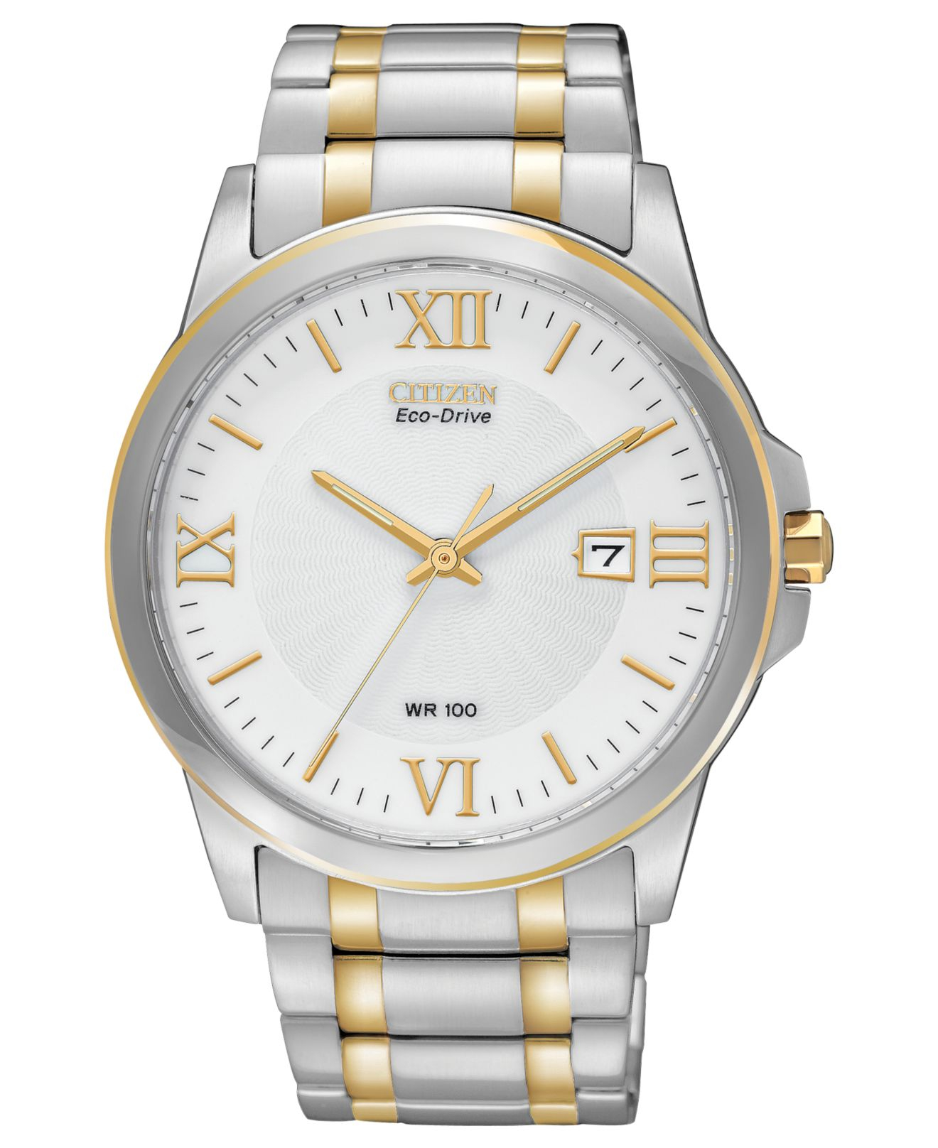 citizen s eco drive two tone stainless steel bracelet