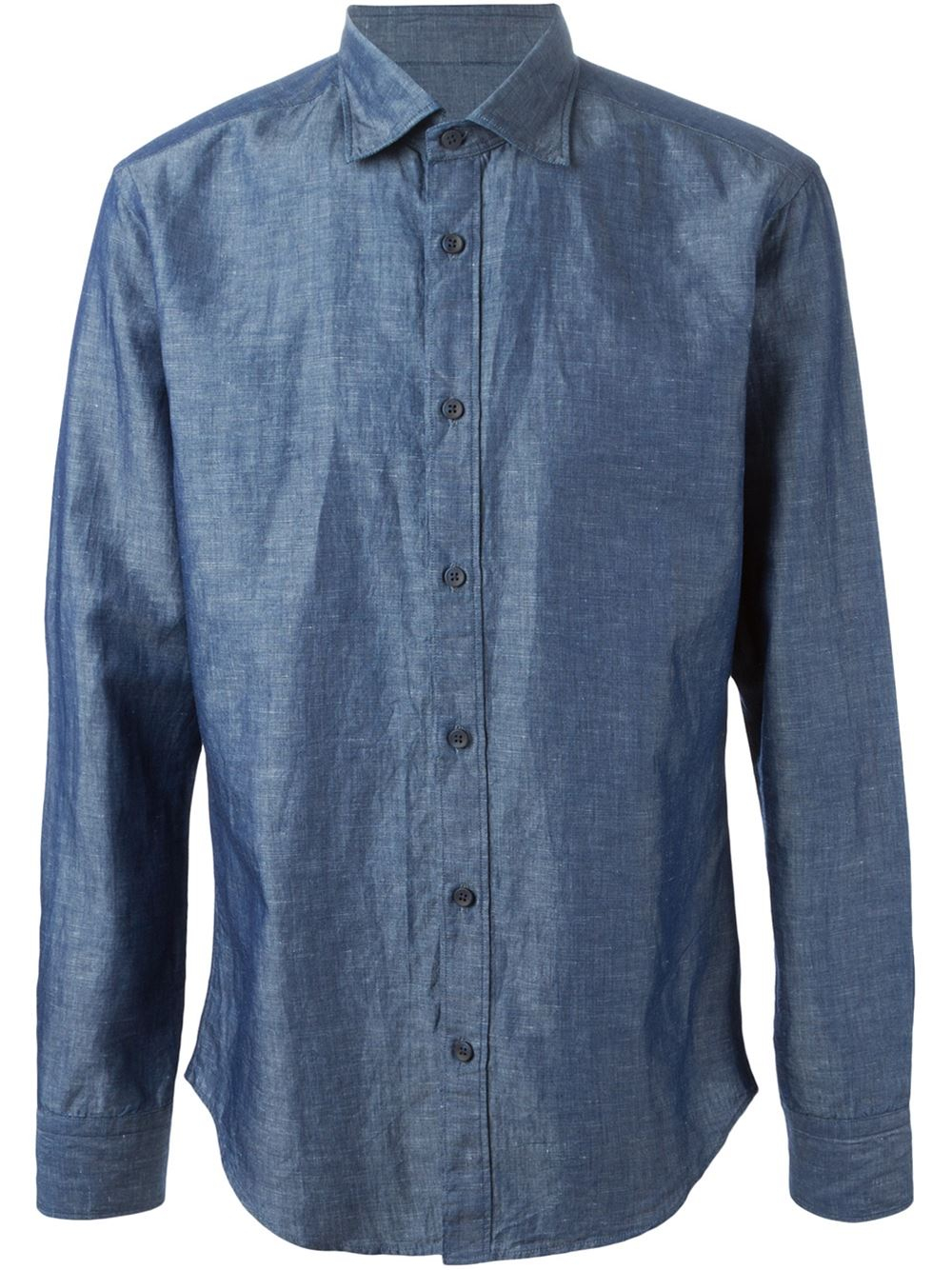 Z Zegna Classic Button Down Shirt In Blue For Men Lyst