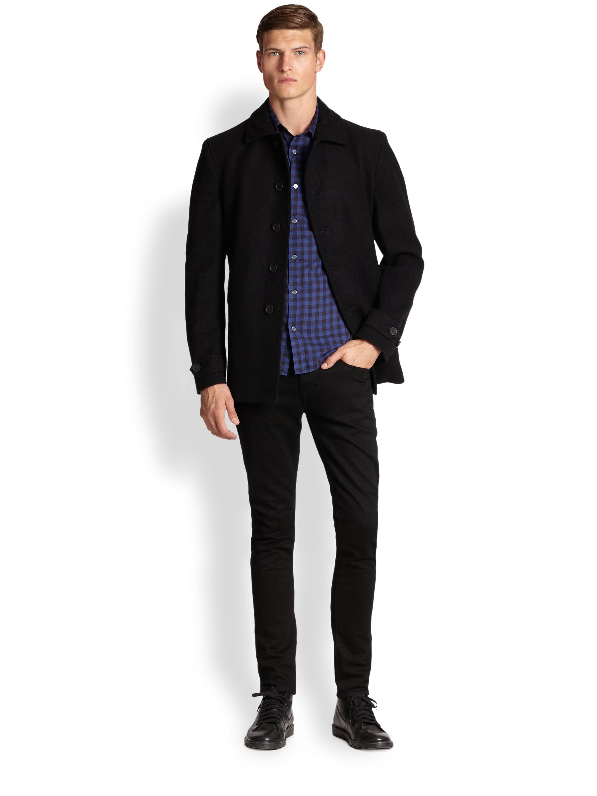 Burberry brit Elmscott Wool & Cashmere Car Coat in Black for Men ...