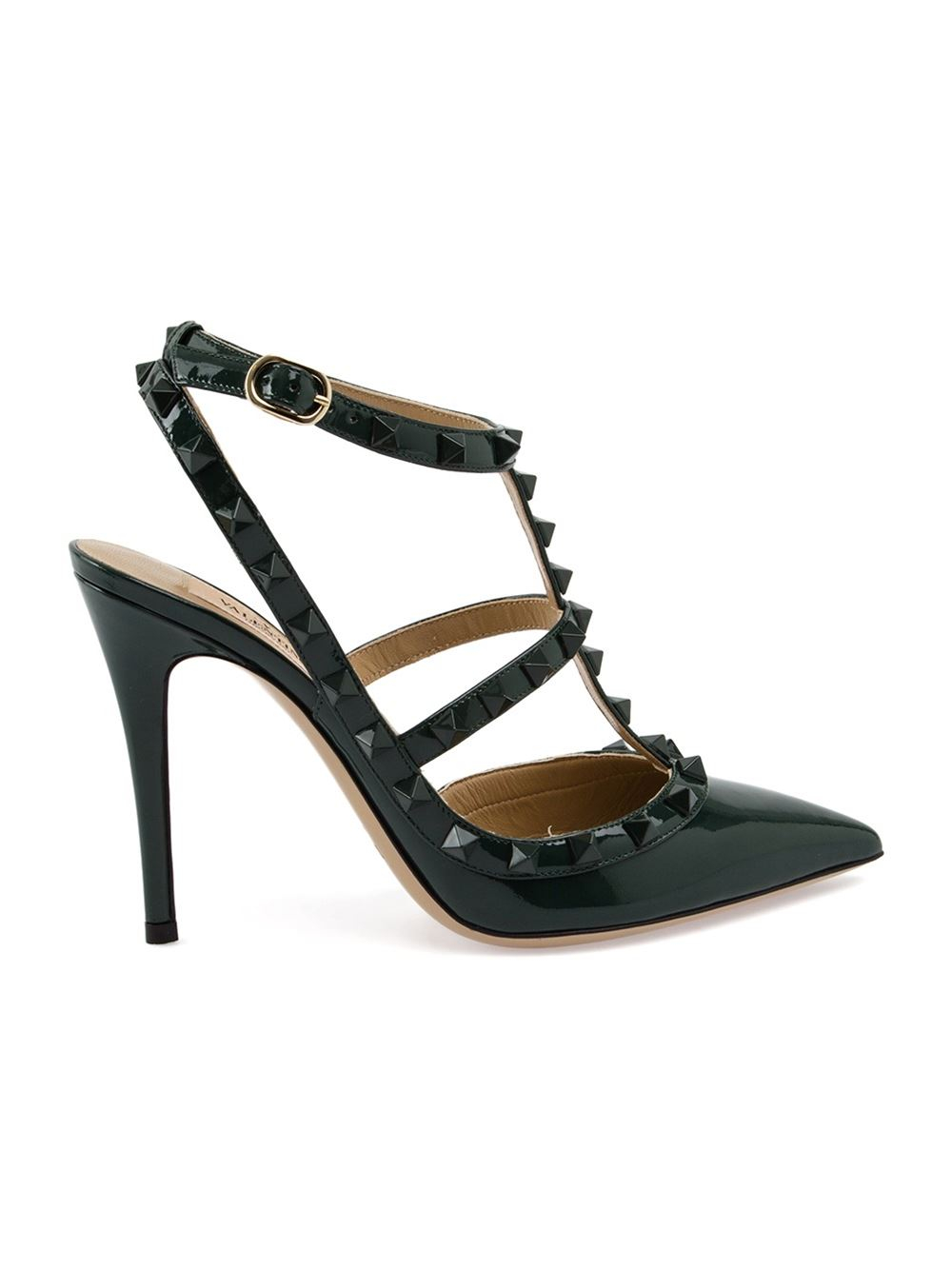 valentino rockstud pumps in green lyst. Black Bedroom Furniture Sets. Home Design Ideas