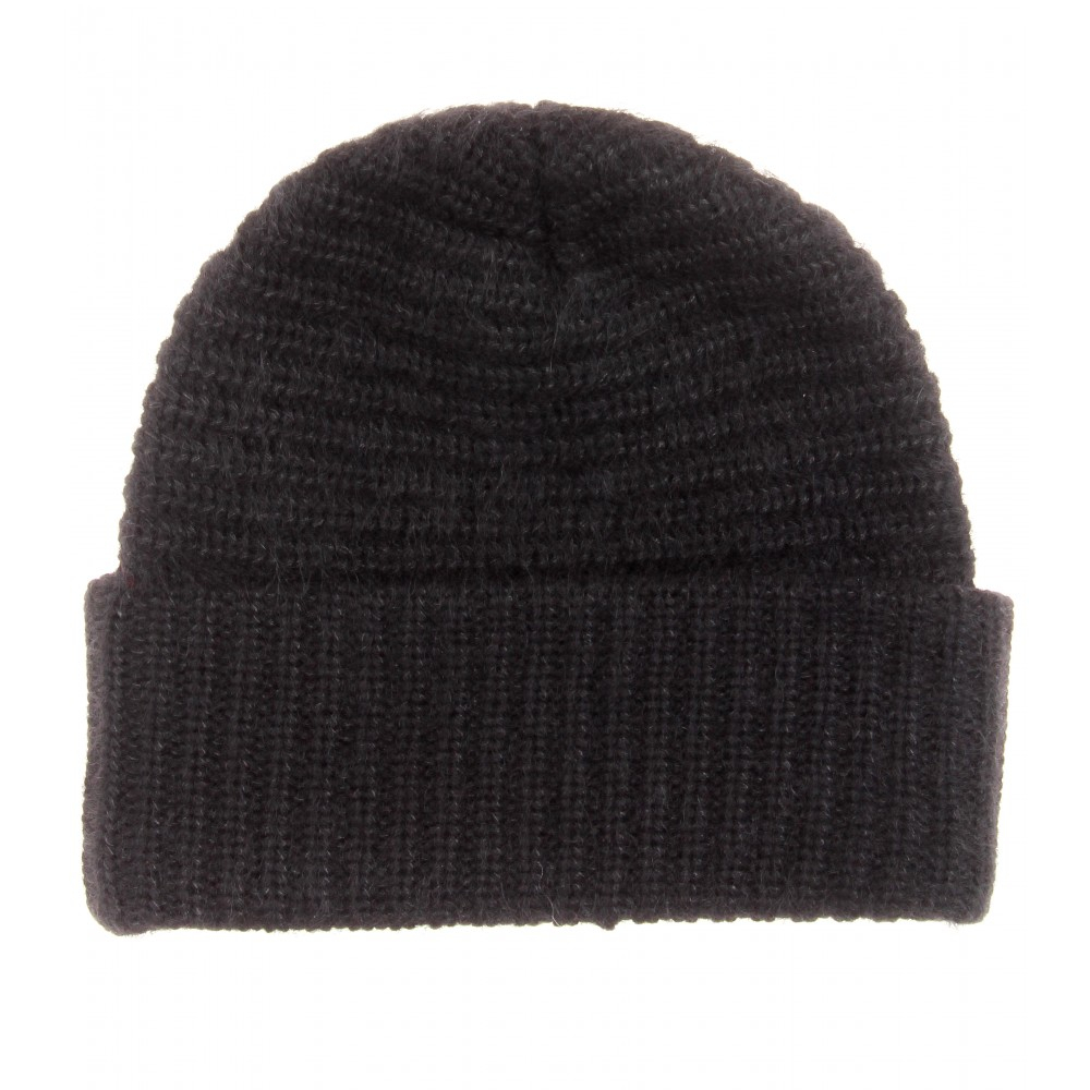 d29fec78ed3 Acne Studios Daphnee Wool and Mohairblend Hat in Black - Lyst