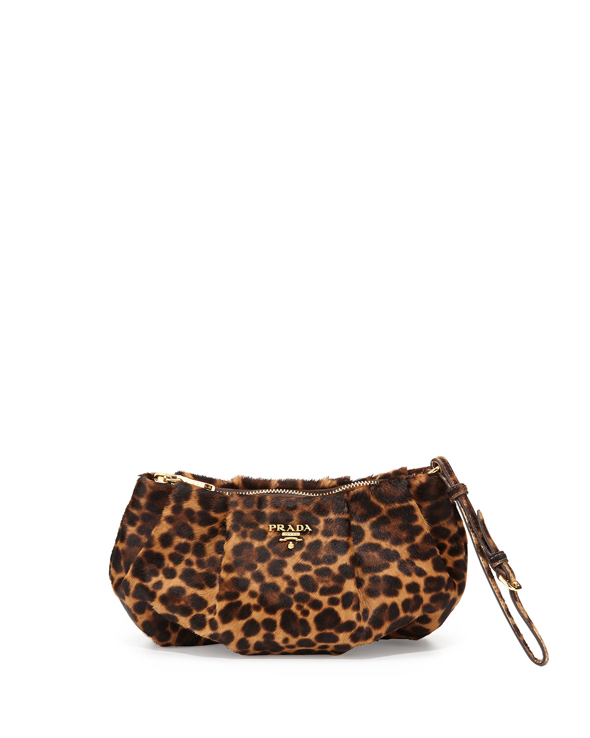 prada handbags knockoffs - Prada Cavallino Zip Wristlet Bag in Brown (Leopard (Miele/Moro ...