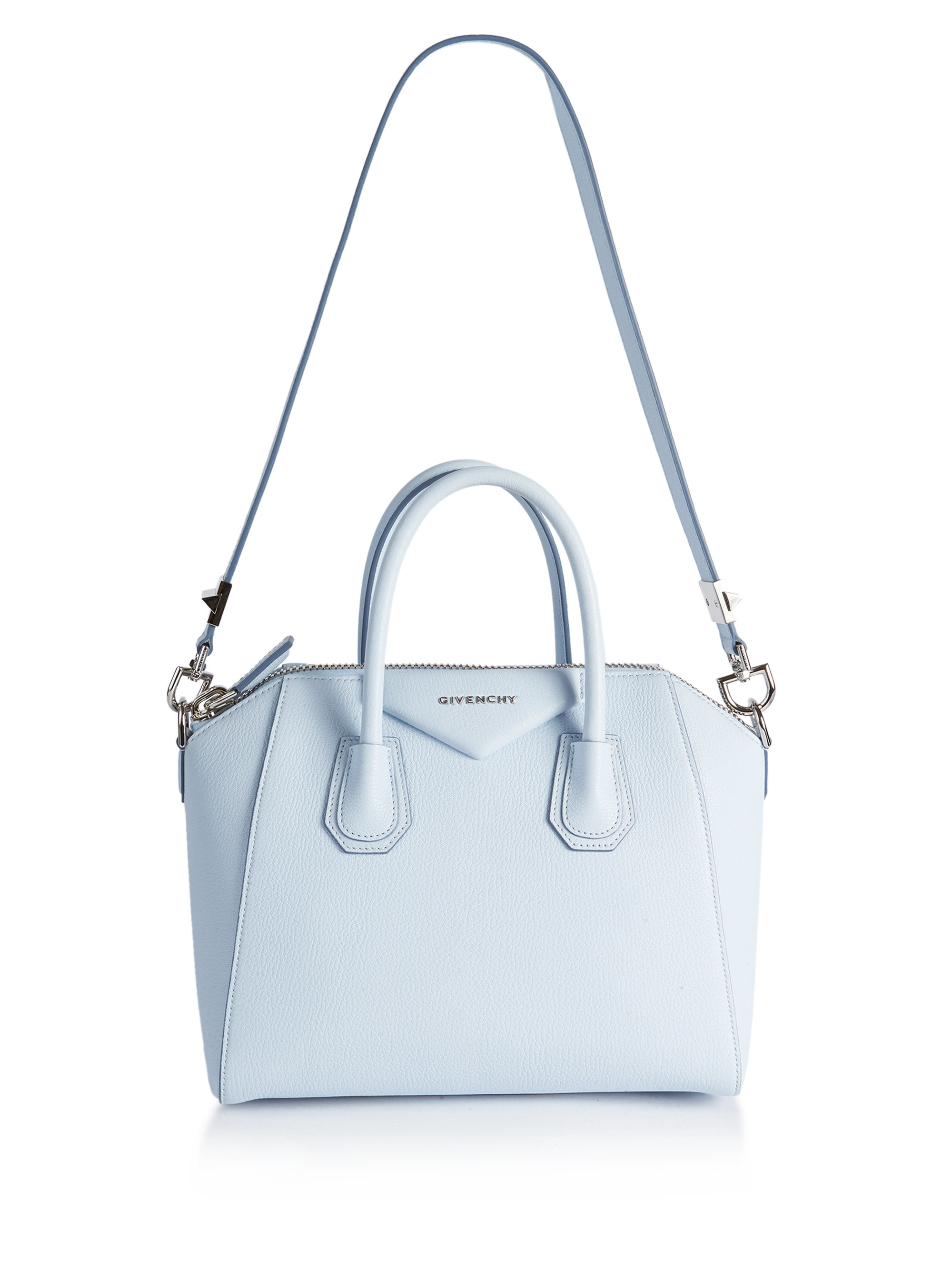 Lyst - Givenchy Antigona Small Leather Satchel in Blue c3a670d13c3d5
