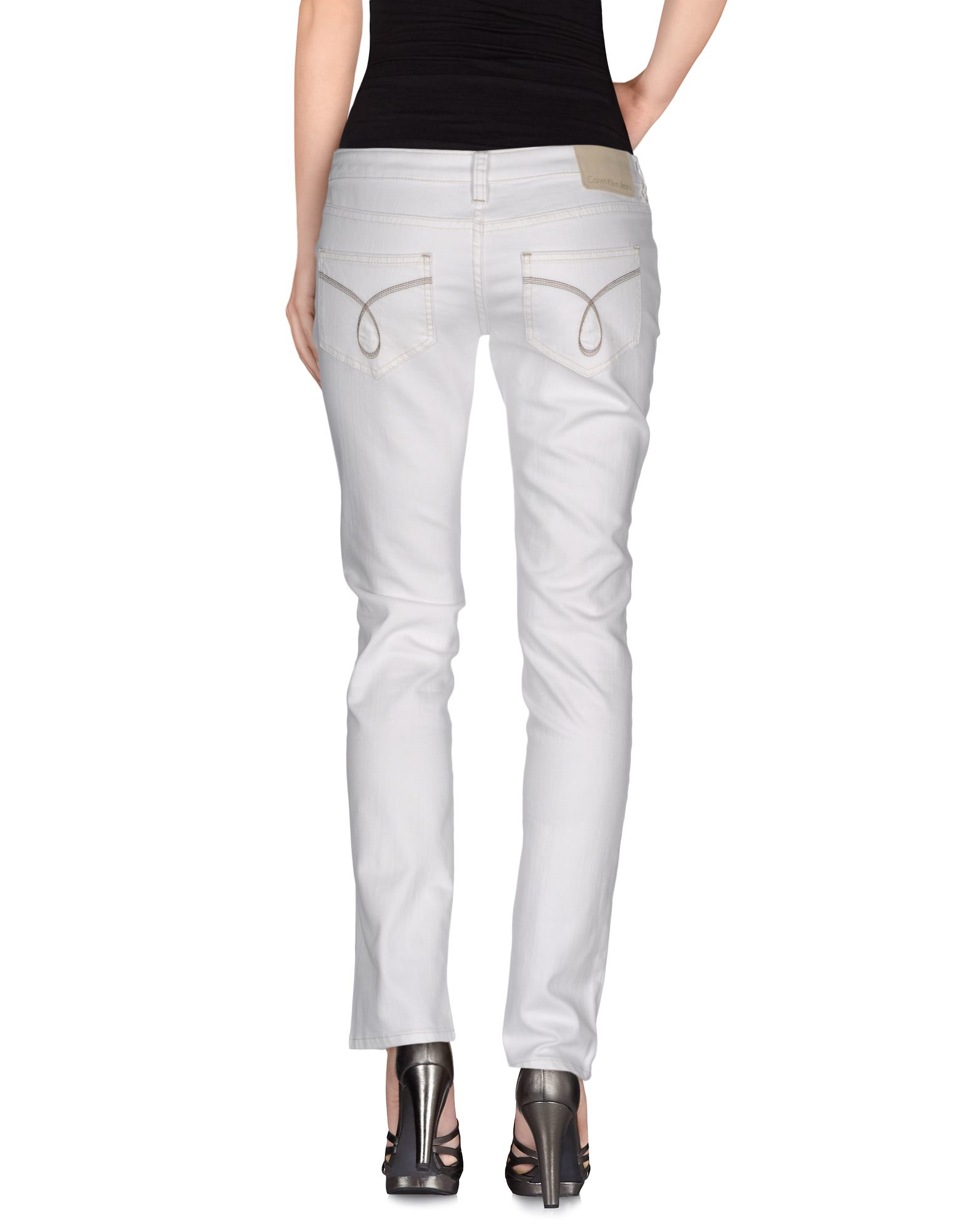 Womens Grey Straight Leg Jeans