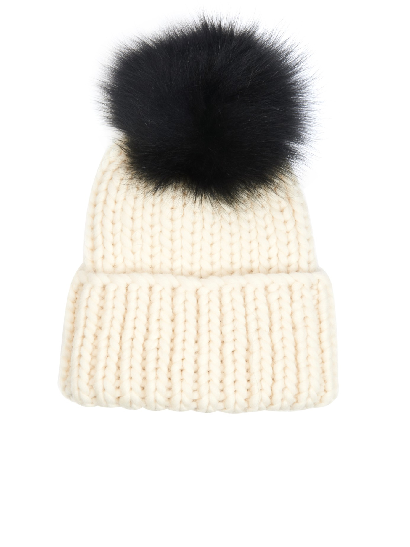 f6a2ad4911b Lyst - Eugenia Kim Rain Fur Pompom Beanie Hat in Natural