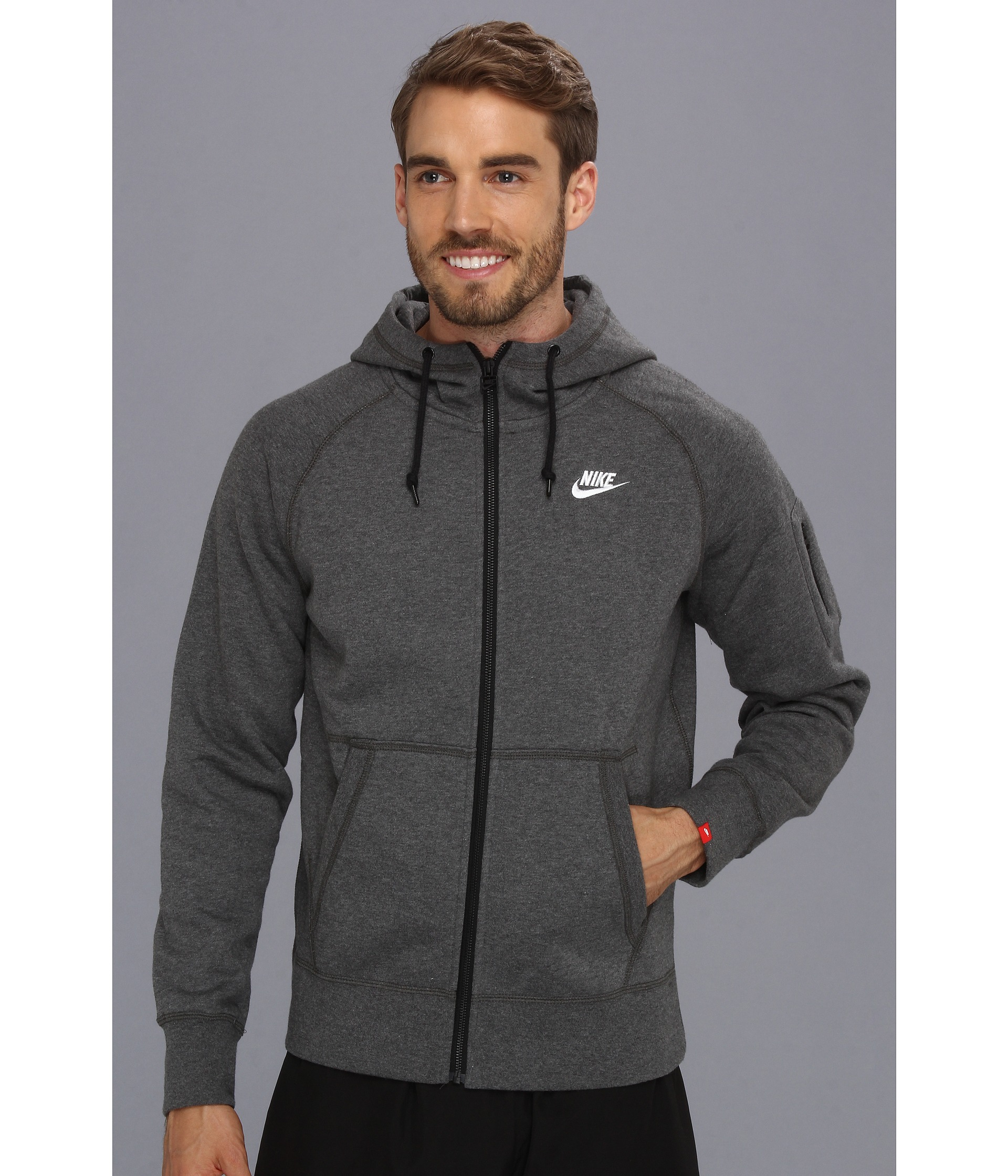 5d90b26a68 Lyst - Nike Aw77 Fleece Fz Hoodie in Gray for Men
