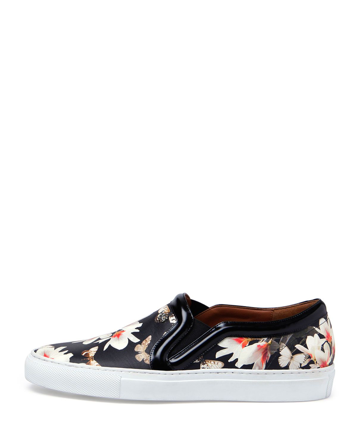 givenchy floral print slip on sneaker in black lyst
