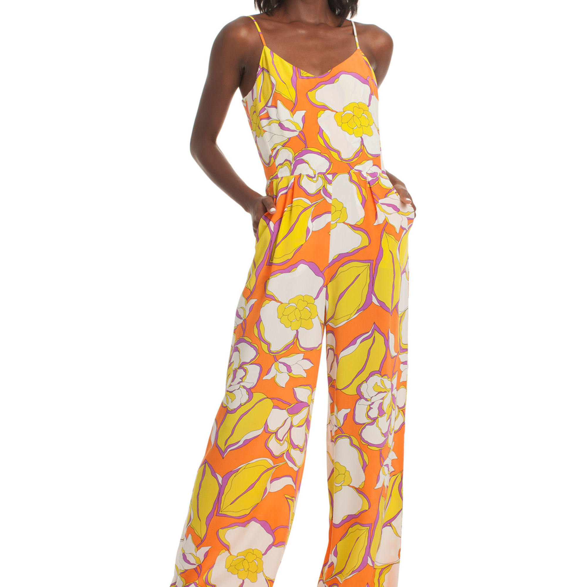 5008401e65bd Trina Turk Zadie Sleeveless Silk Jumpsuit in Orange - Lyst