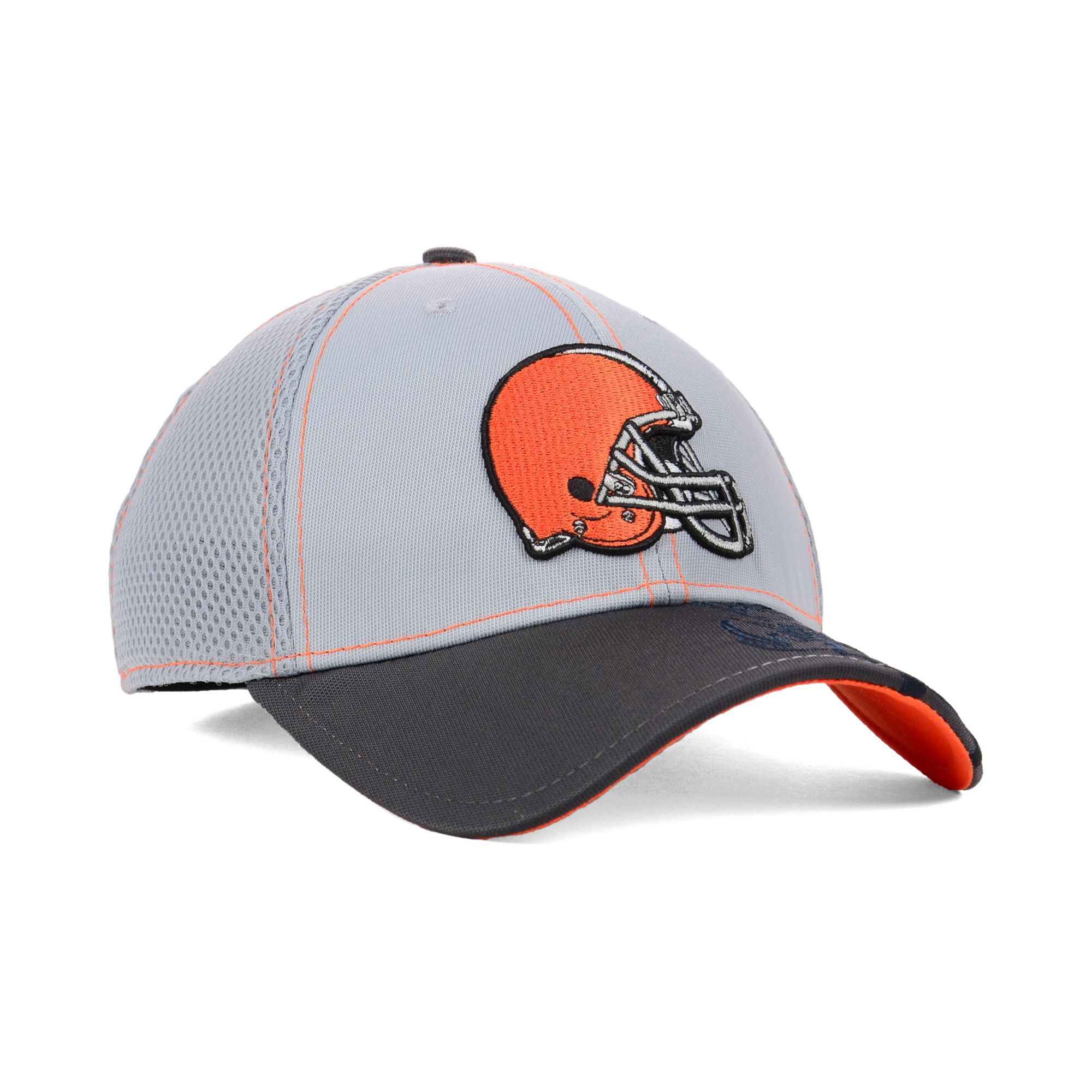 low priced dd550 65910 KTZ Cleveland Browns Logo Crop Neo 39thirty Cap in Gray - Lyst