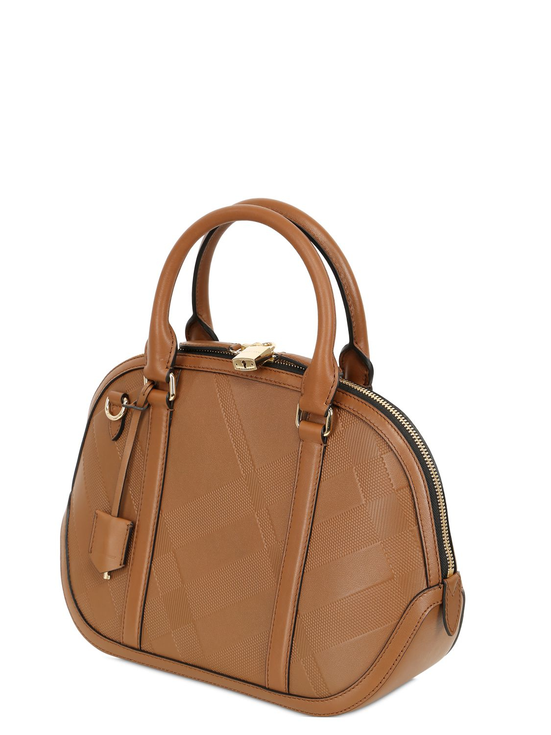Lyst - Burberry Small Orchard Embossed Leather Bag in Brown 5b1fca8deb4c3