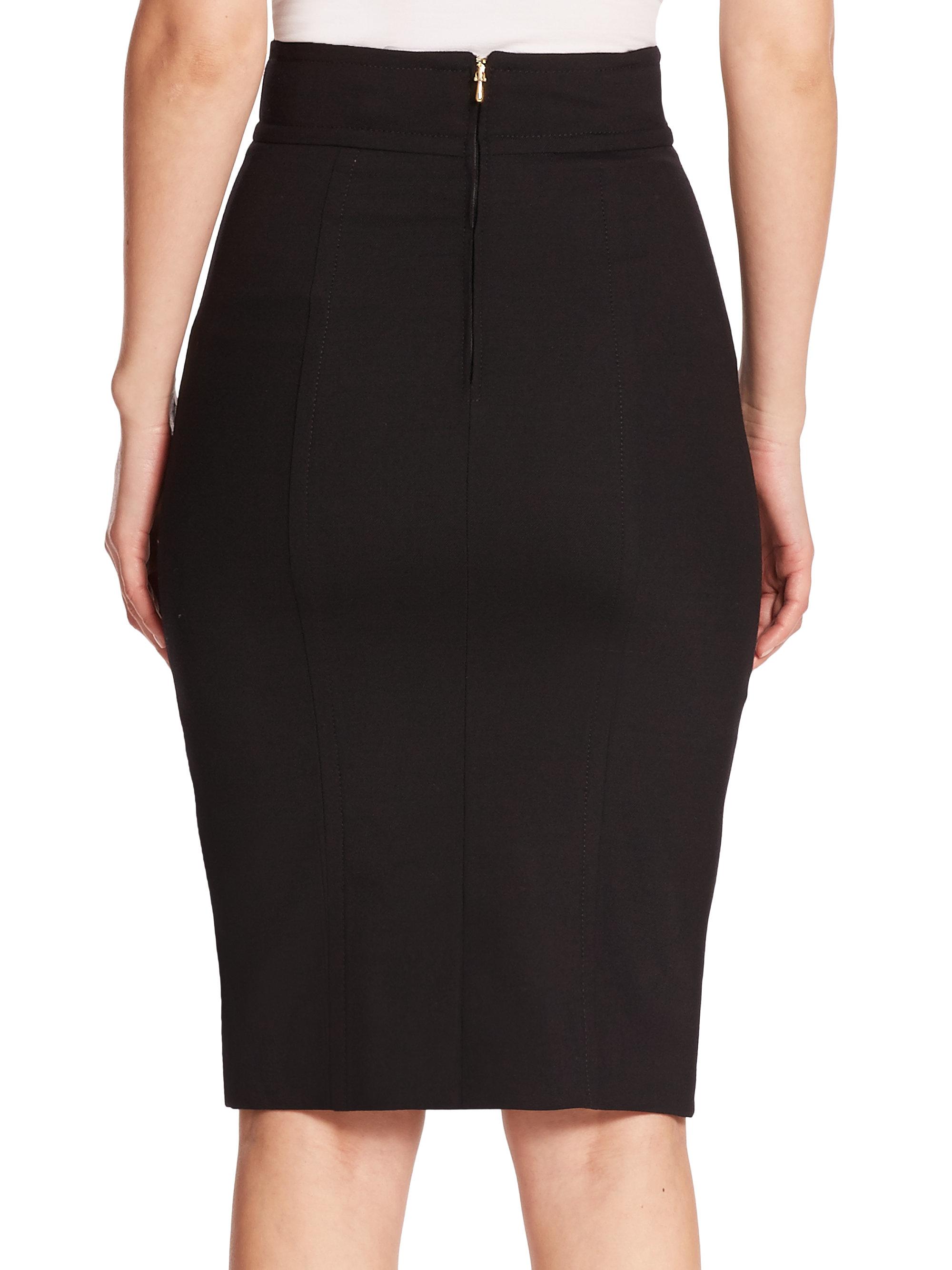 4e0d266f94 Carolina Herrera Day Collection Pencil Skirt in Black - Lyst