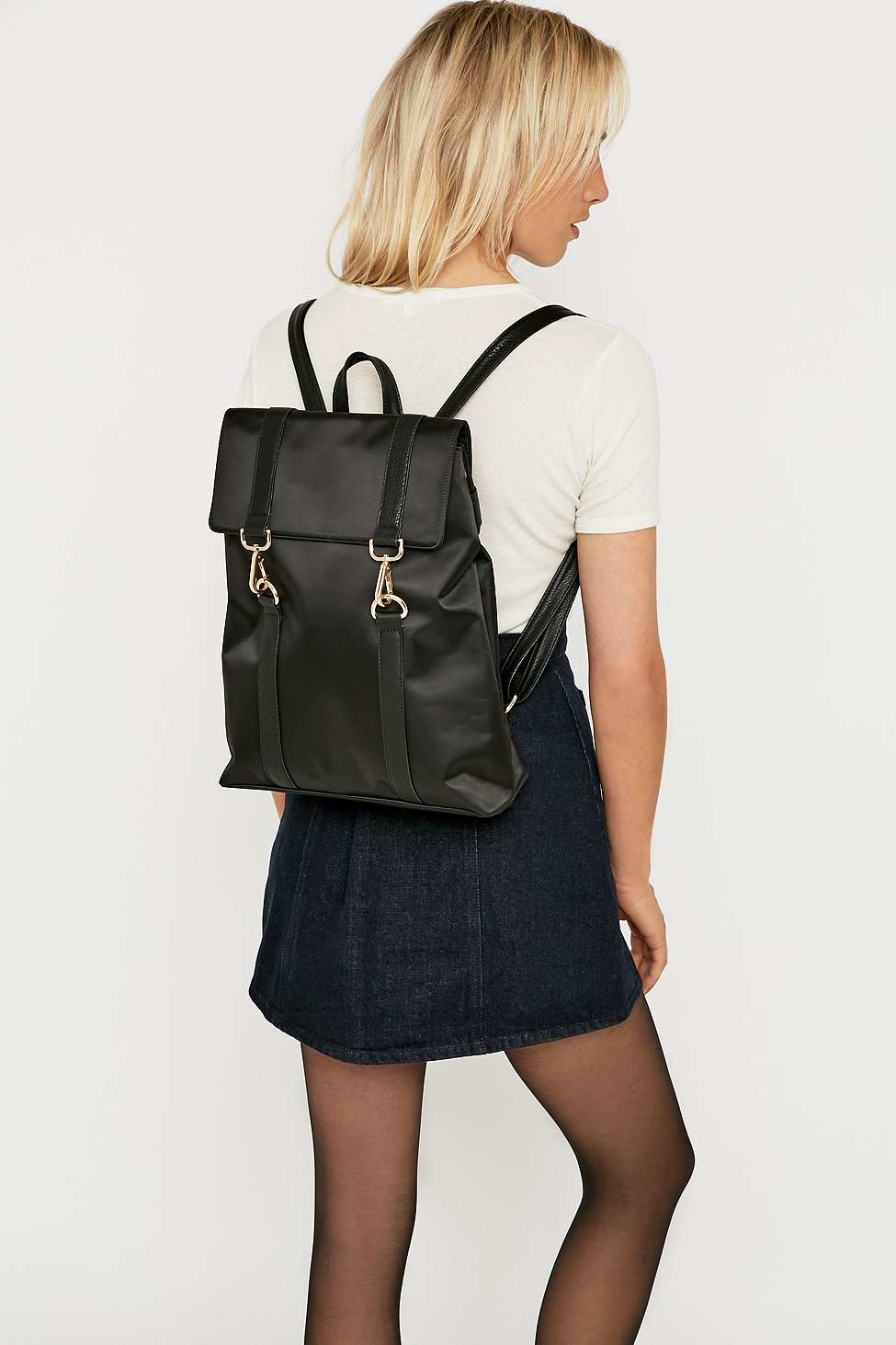 Urban outfitters Nylon Dog Clip Backpack in Black | Lyst