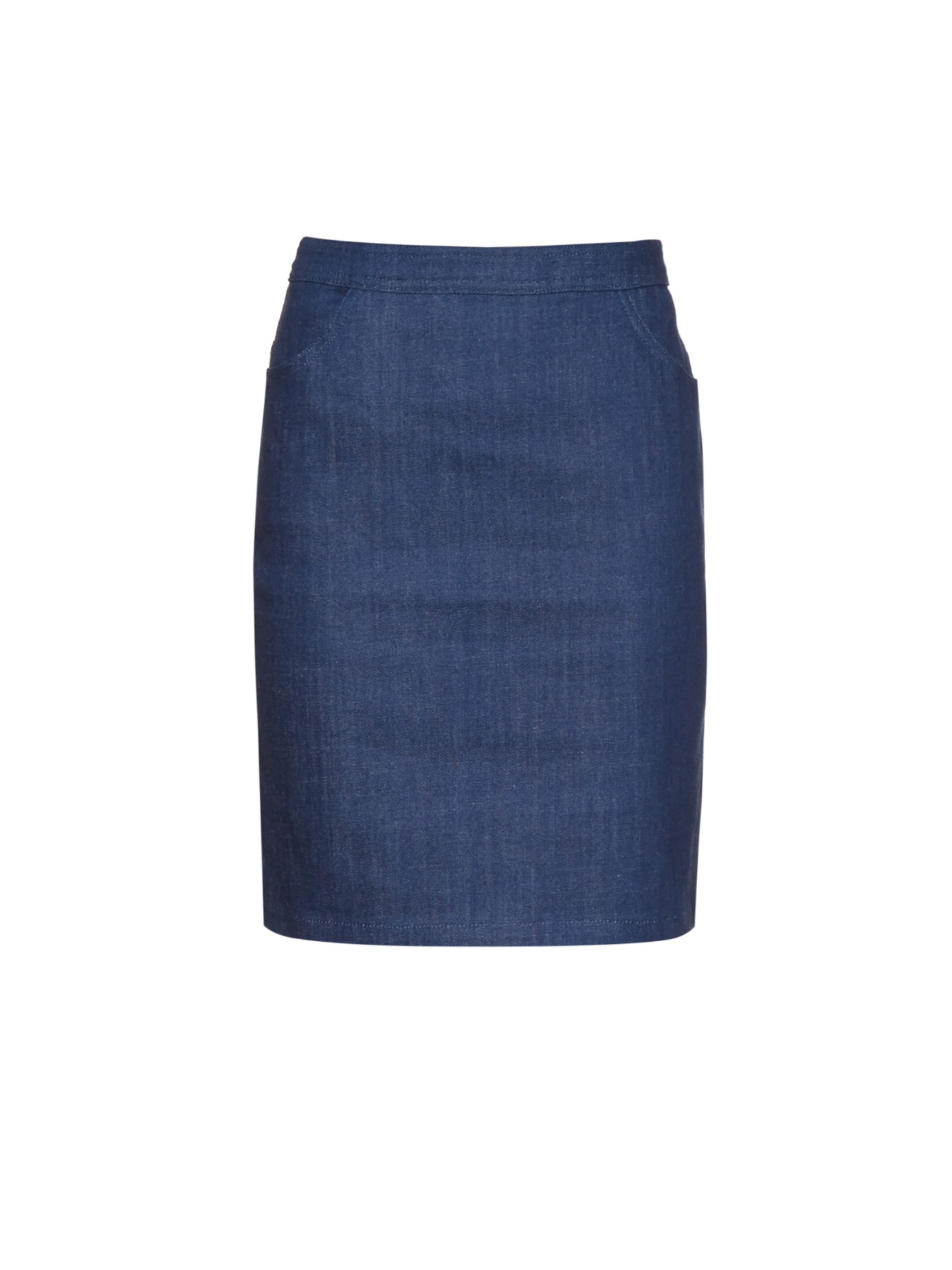 A.p.c. High-rise Stretch-denim Skirt in Blue | Lyst